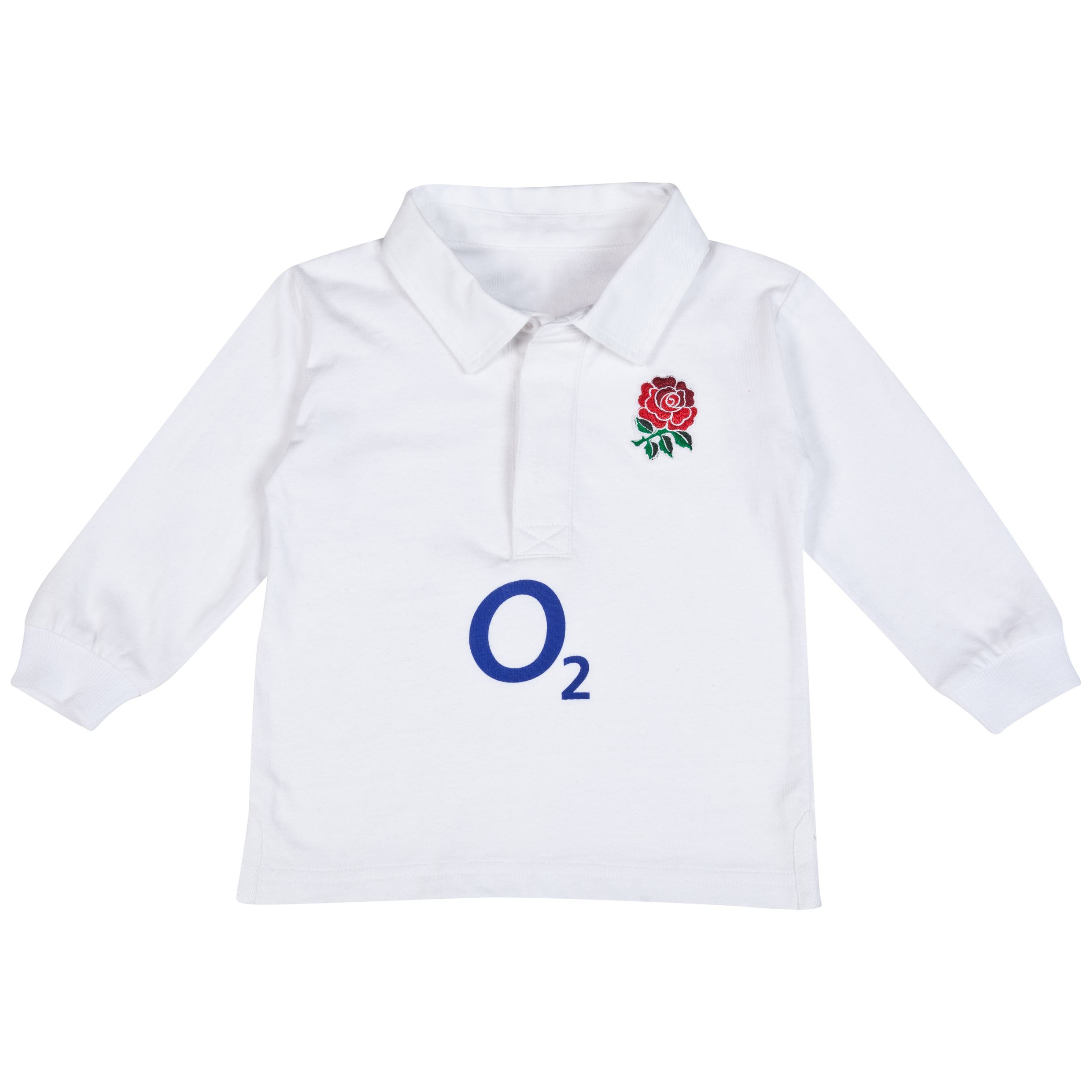 England Rugby Classic Long Sleeved Shirt - Infants White