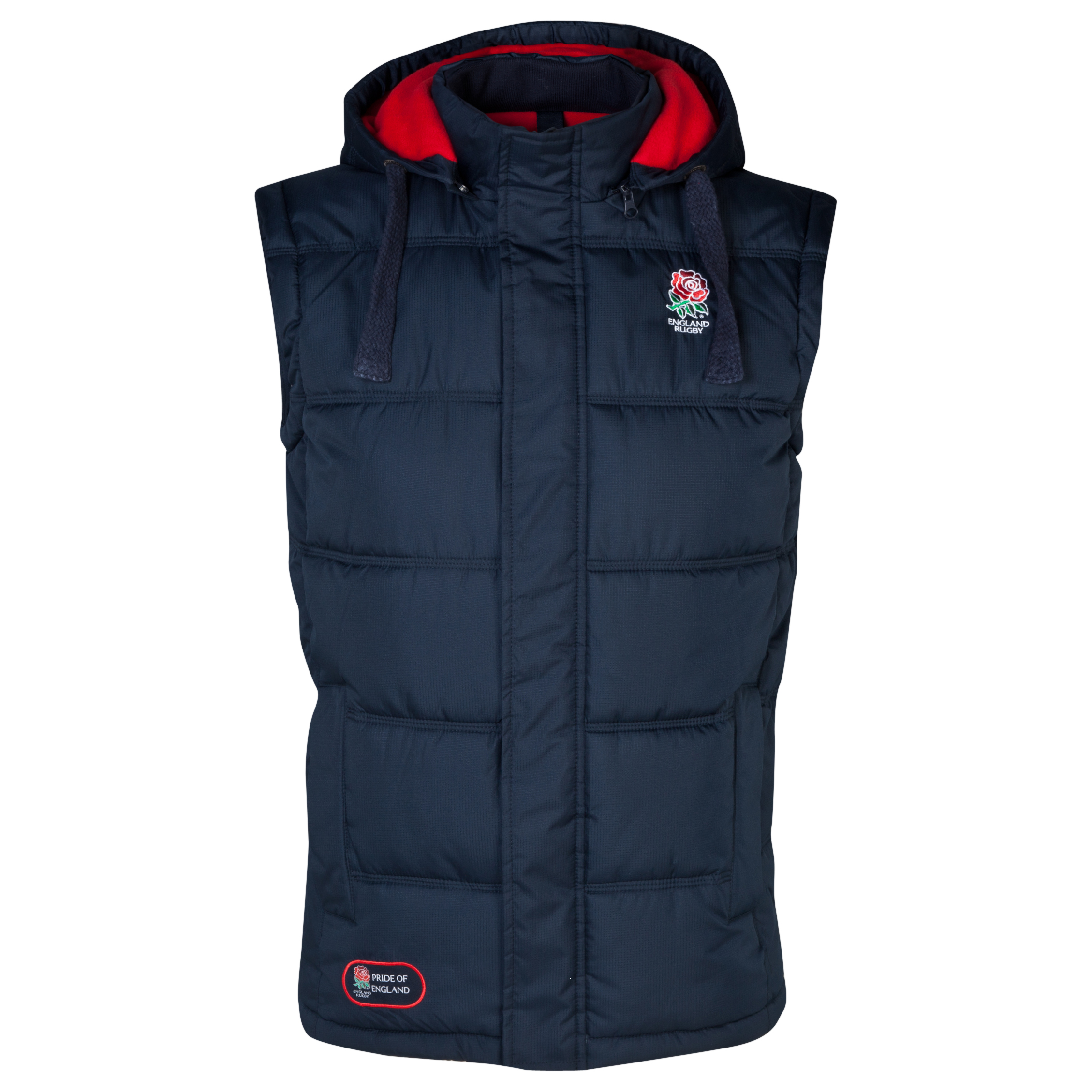 England Rugby Classics Collection Hooded Gilet Navy