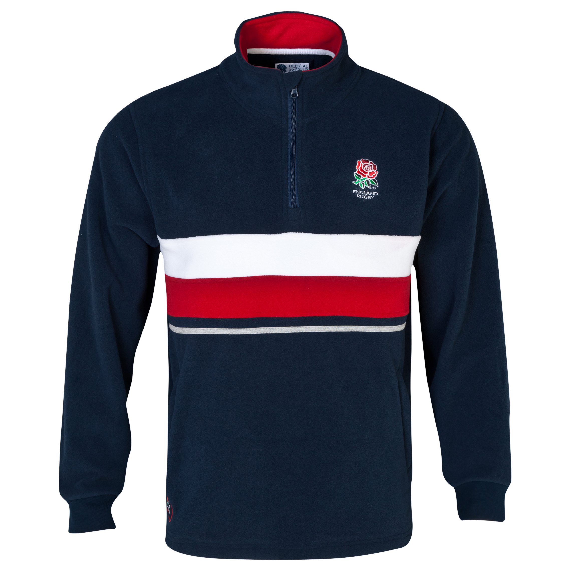 England Rugby Classics Collection 1/4 Zip Micro Fleece - Boys Navy