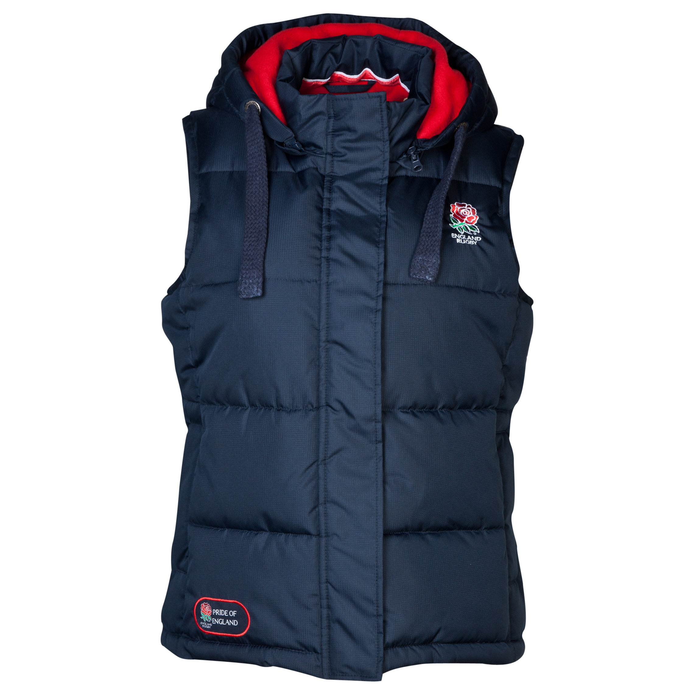 England Rugby Classics Collection Hooded Gilet - Womens Navy