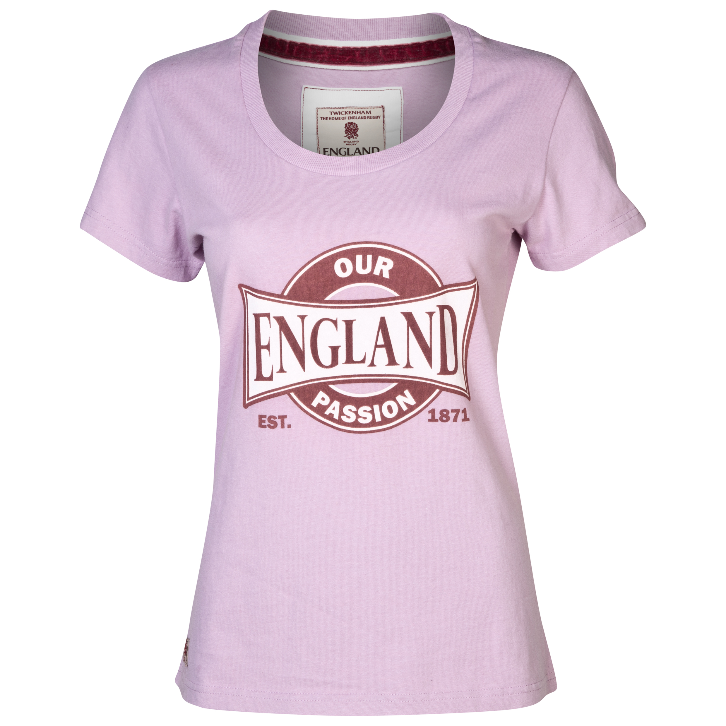 England Rugby Authentics Collection Our Passion T-Shirt - Womens Purple