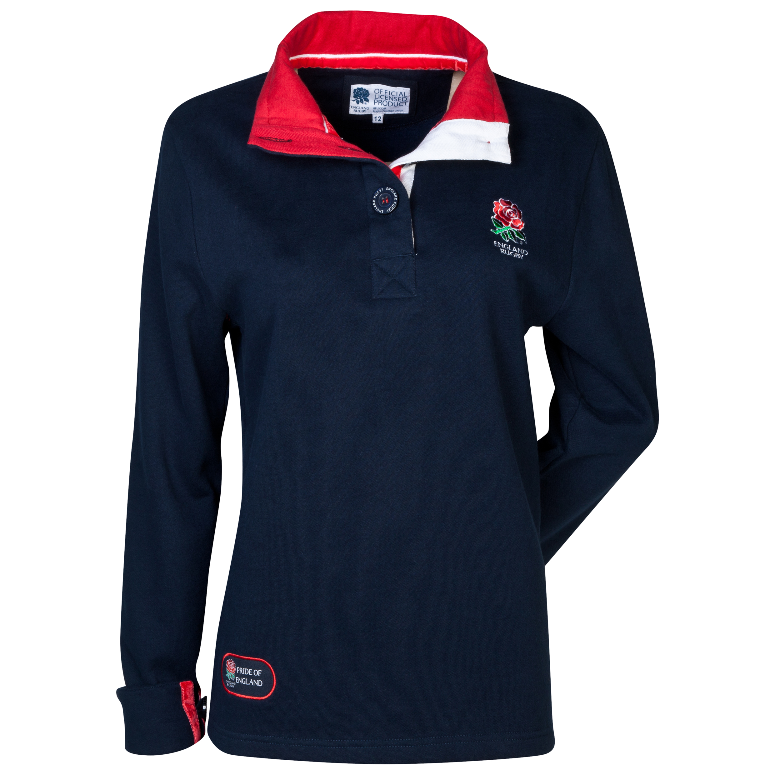 England Rugby Classics Collection Placket Sweat - Womens Navy