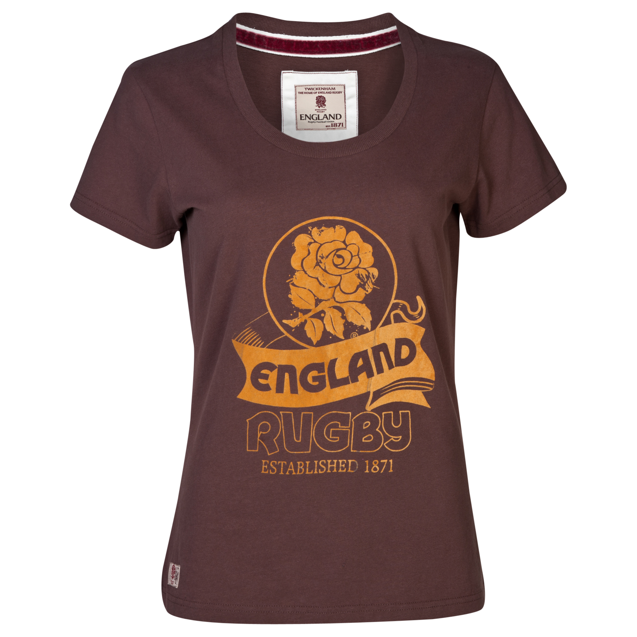 England Rugby Authentics Collection Scroll T-Shirt - Womens Black