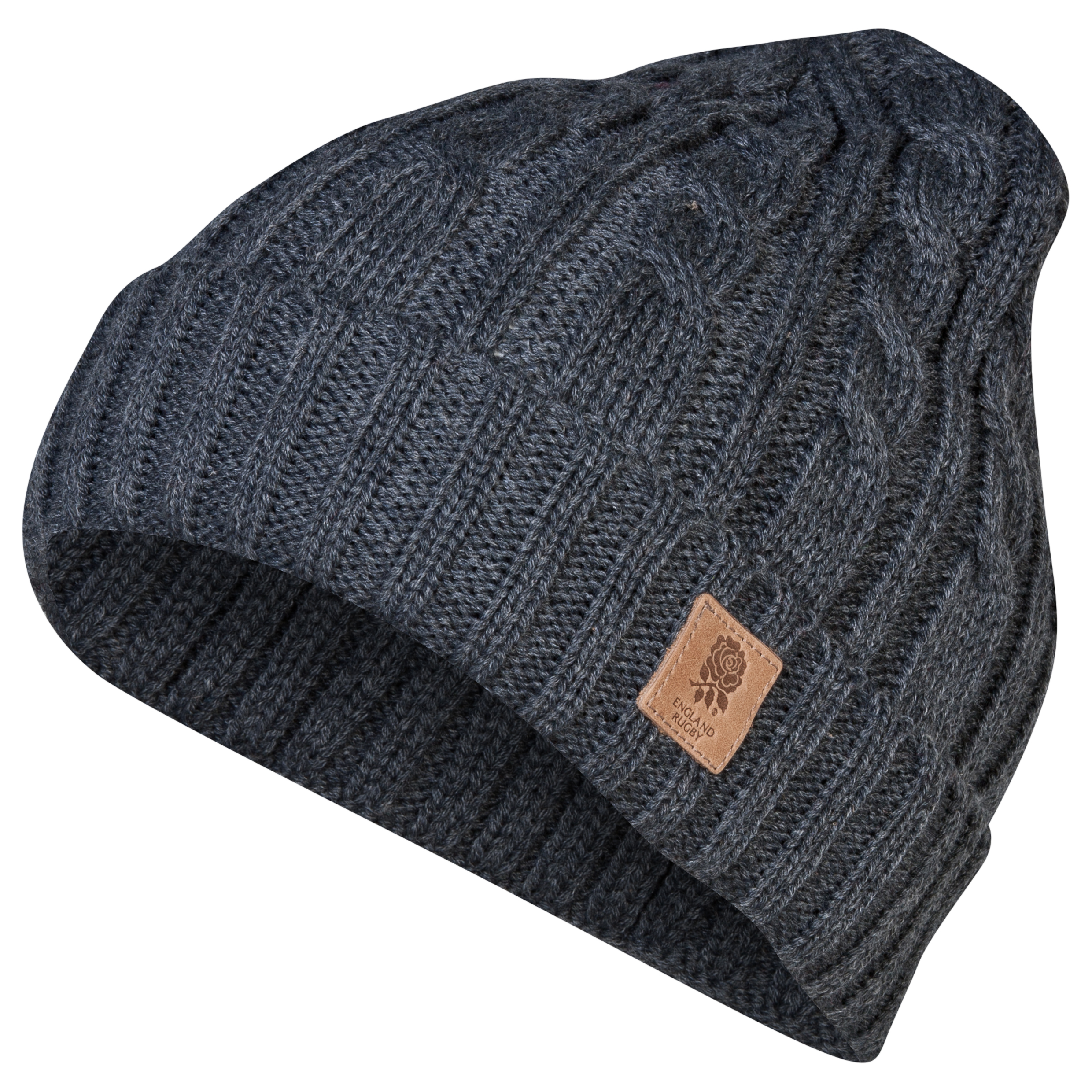England Turn Up Beanie - Mens - Grey