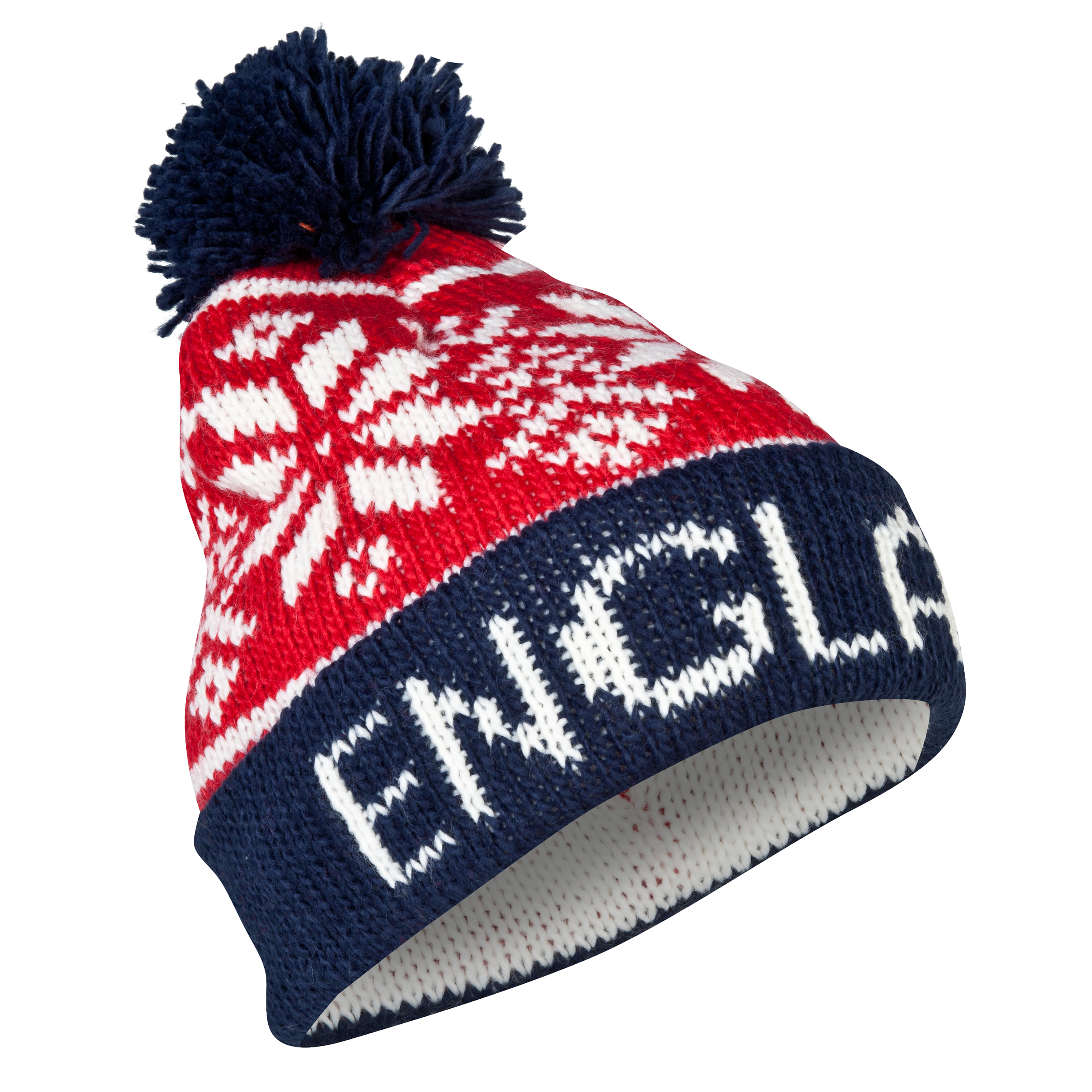 England Fairisle Beanie - Mens - Red