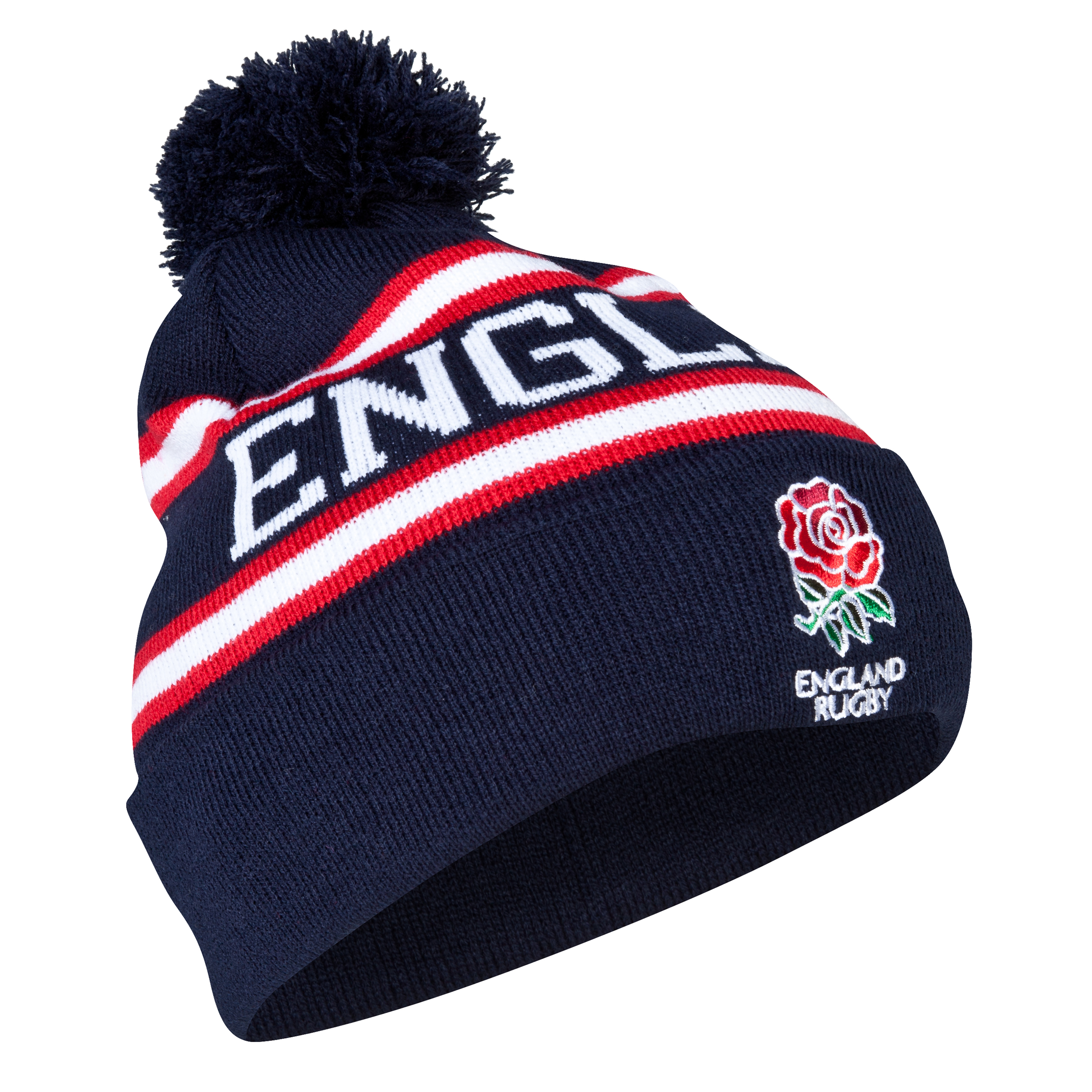 England Text Cuff Beanie - Mens - Navy
