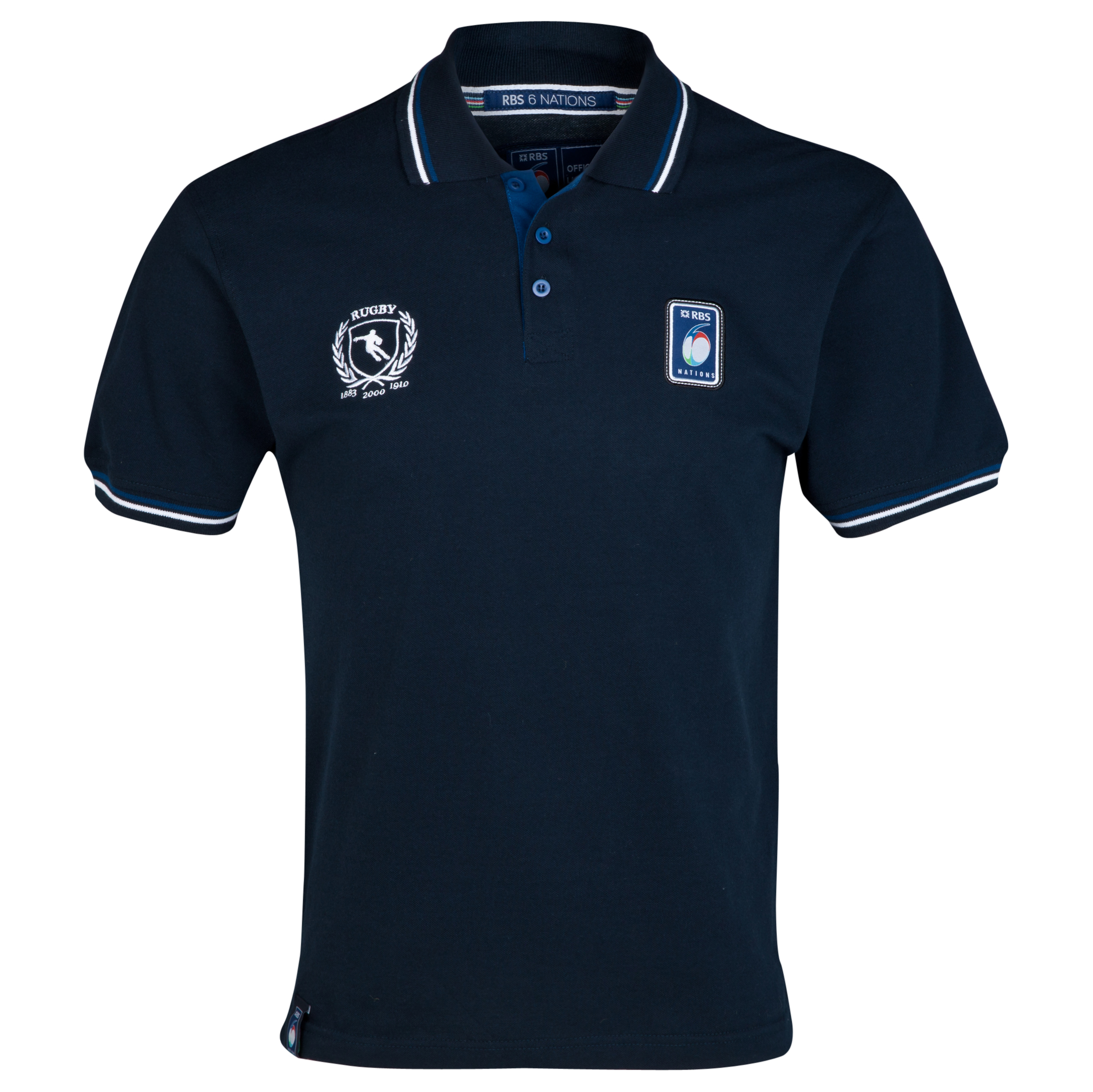 RBS Six Nations Classic Pique Polo - Mens - Navy