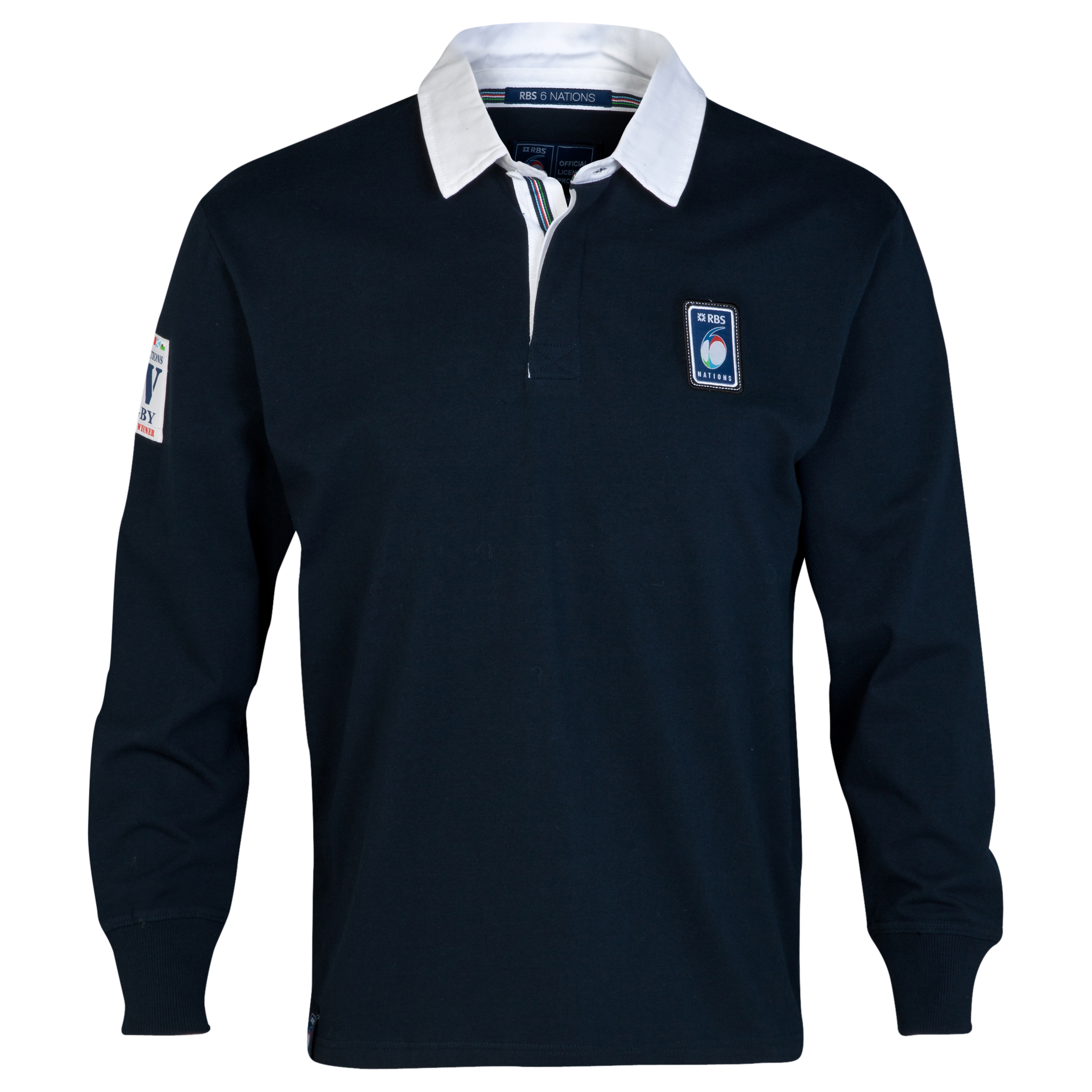 RBS Six Nations Classic Long Sleeved Rugby Shirt - Mens - Navy