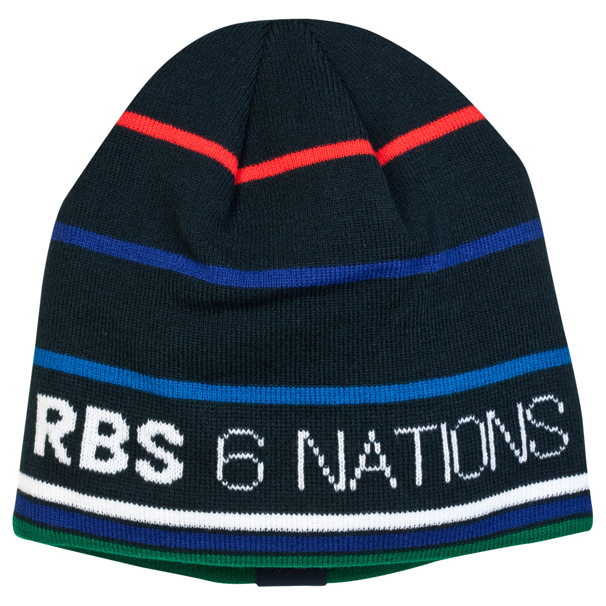 RBS Six Nations Classic Striped Beanie - Mens - Navy