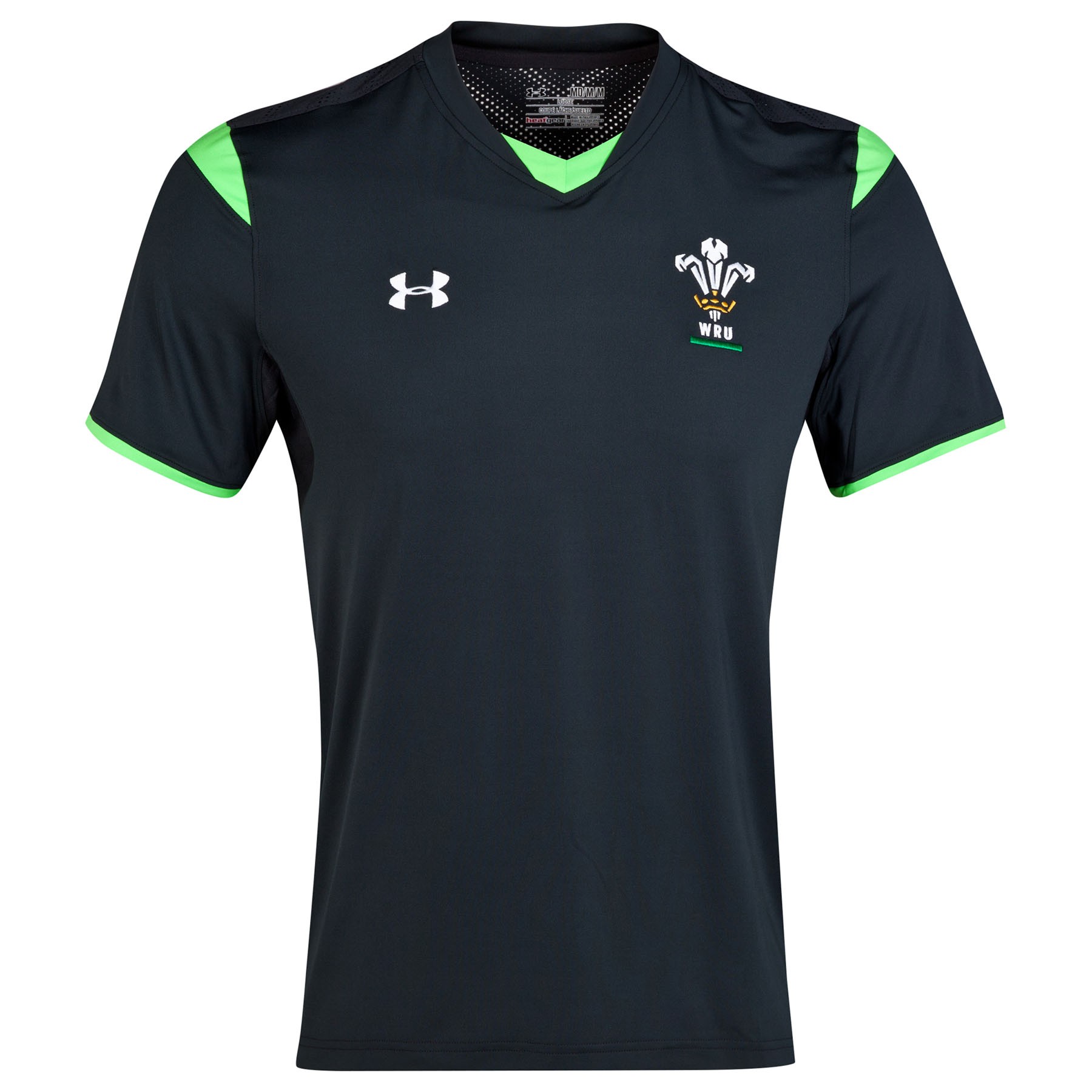 Wales Rugby Union Training SS Shirt Loose 2014/15 Black