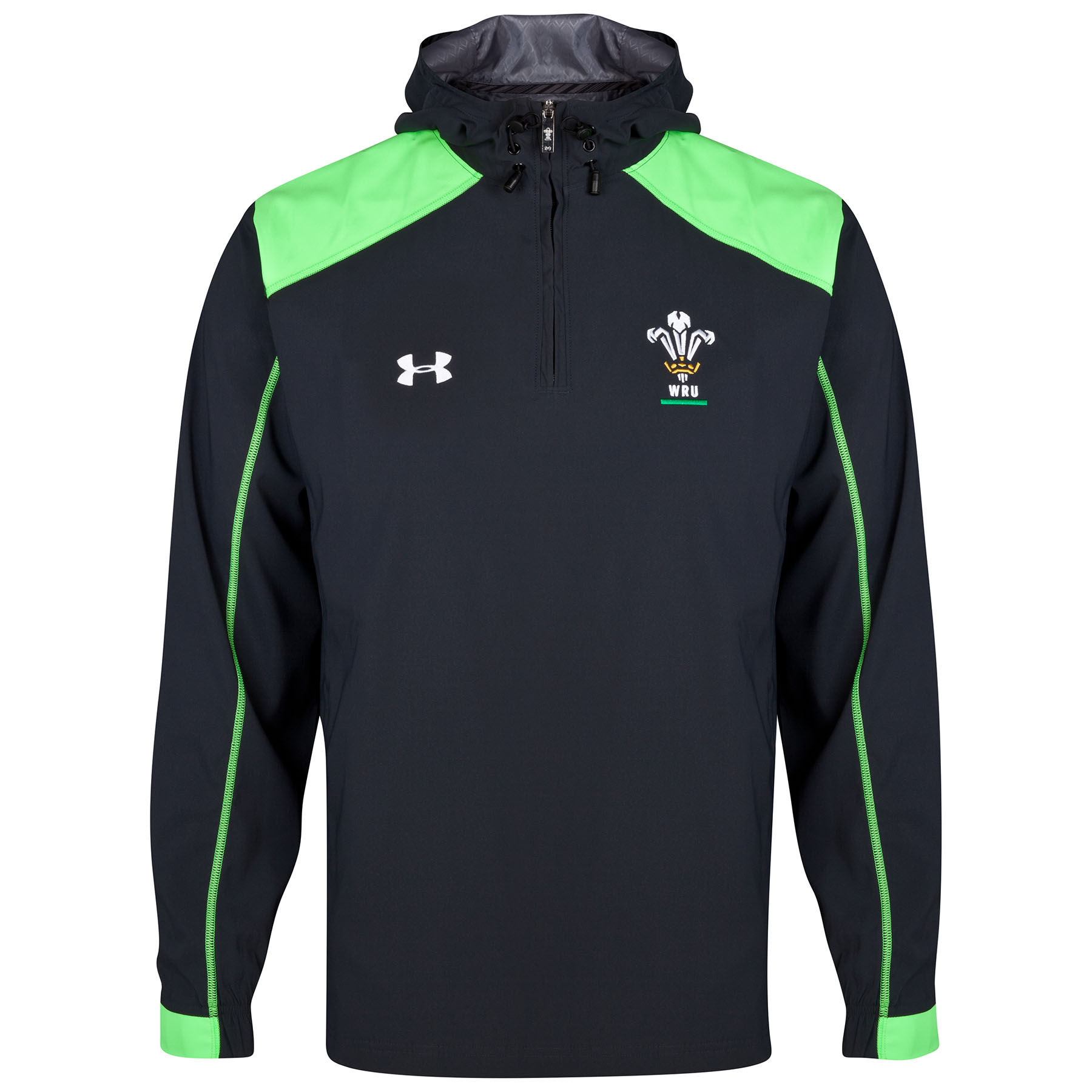 Wales Rugby Union Supporters Training Jacket 2014/15 Black