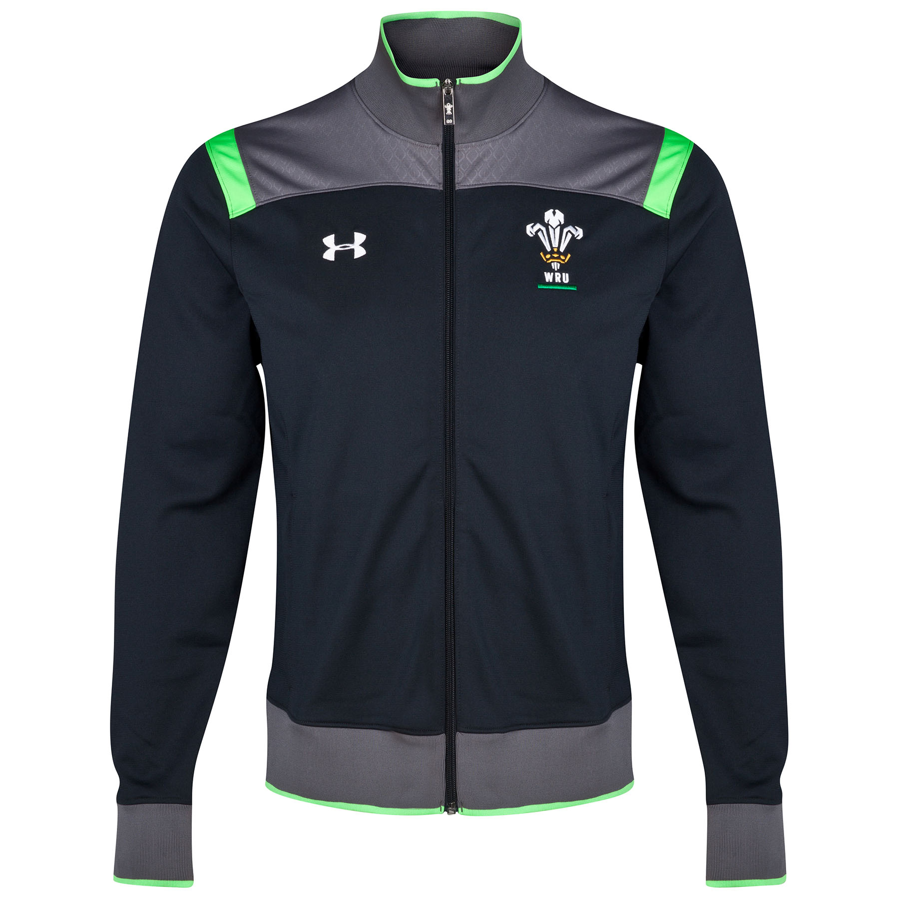 Wales Rugby Union Track Jacket Loose 2014/15 Black