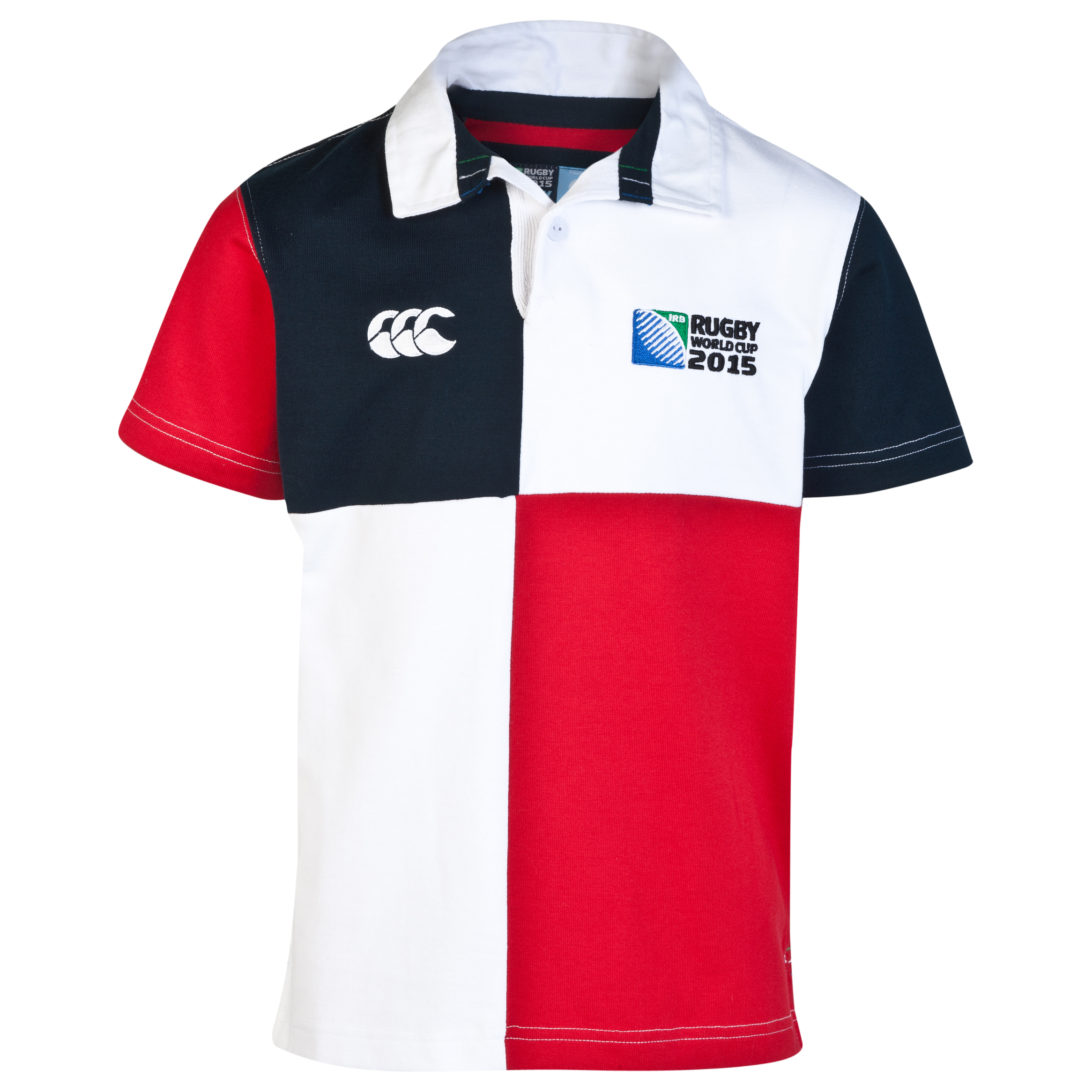 Canterbury Rugby World Cup Harlequin Short Sleeve Rugby Jersey - Kids White