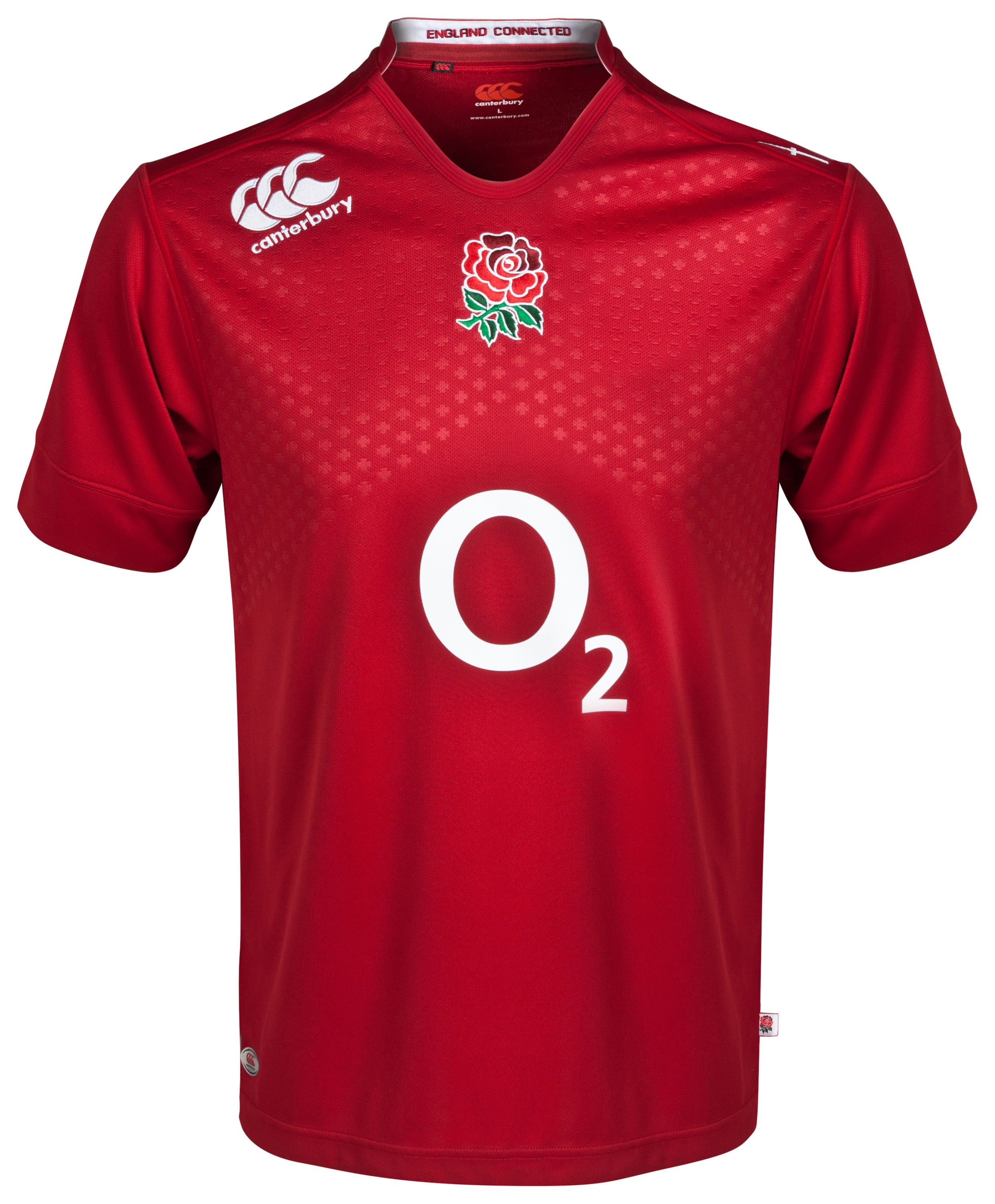 England Alternate Pro Short Sleeve Rugby Shirt 2014/15 Red