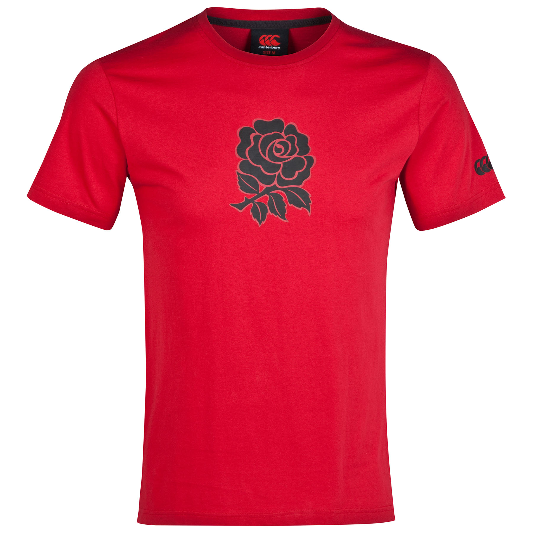 England Cotton Graphic T-Shirt Red