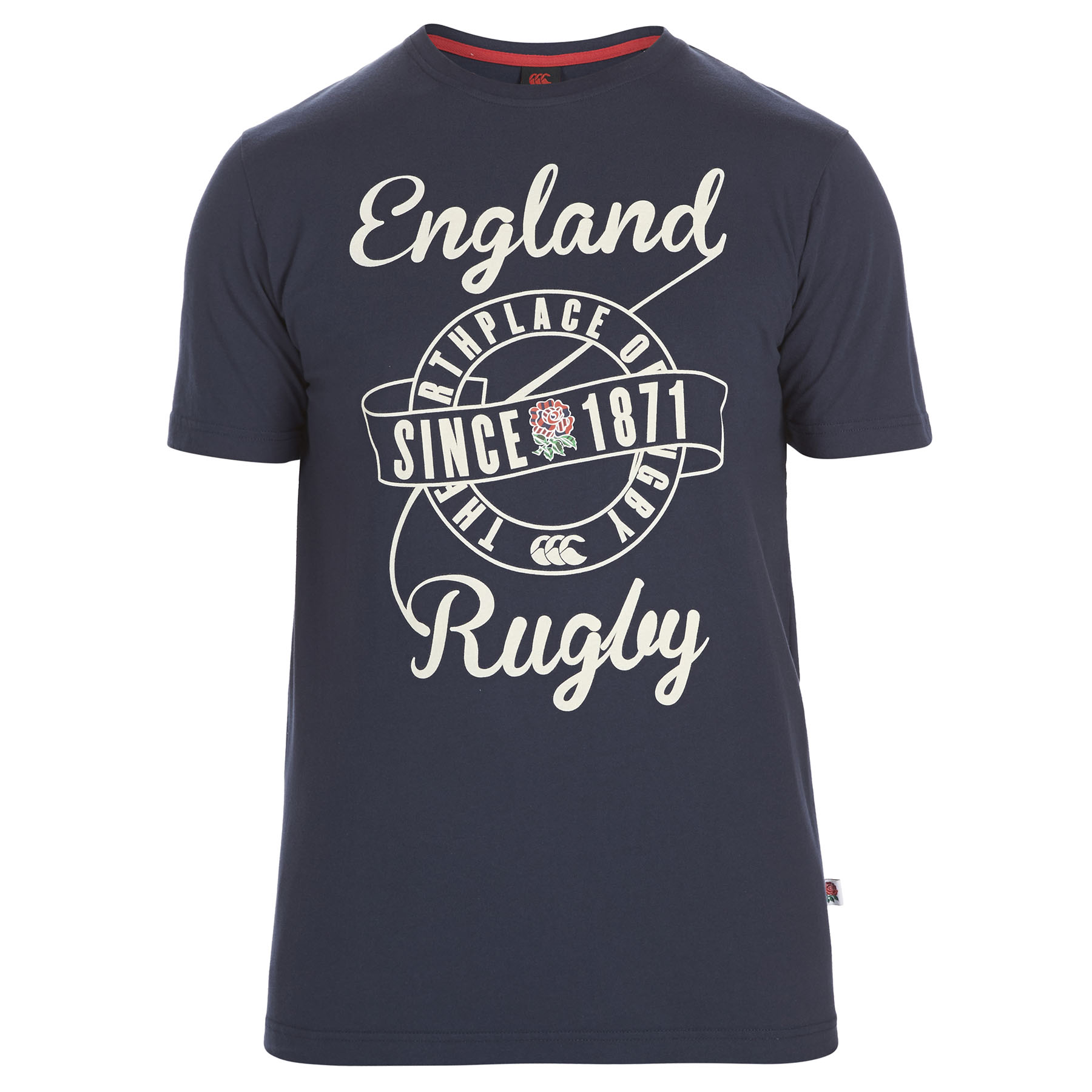 England Uglies Since 1871 Graphic Cotton T-Shirt Navy