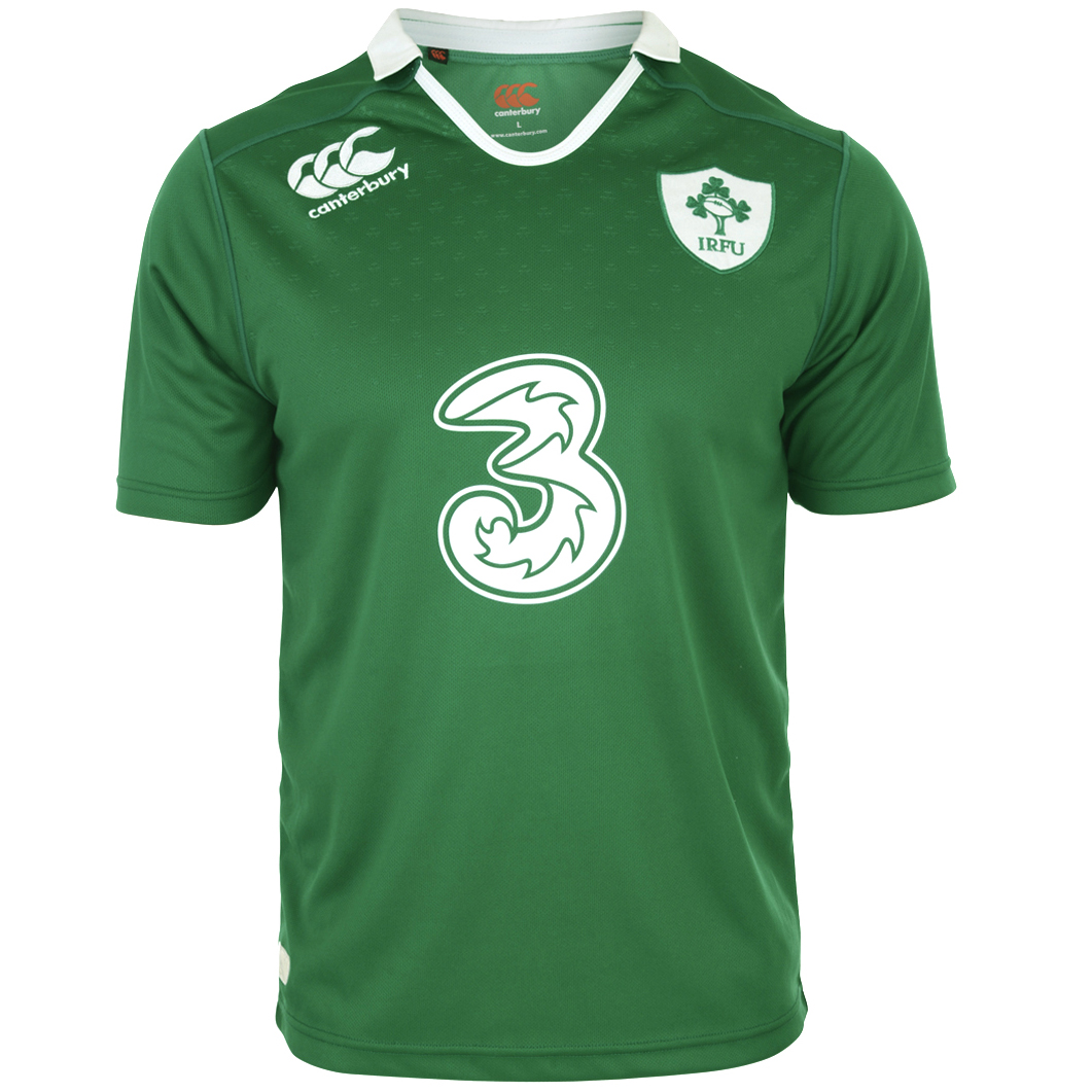 Ireland Home Pro Short Sleeve Rugby Shirt 2014/15 - Kids Green