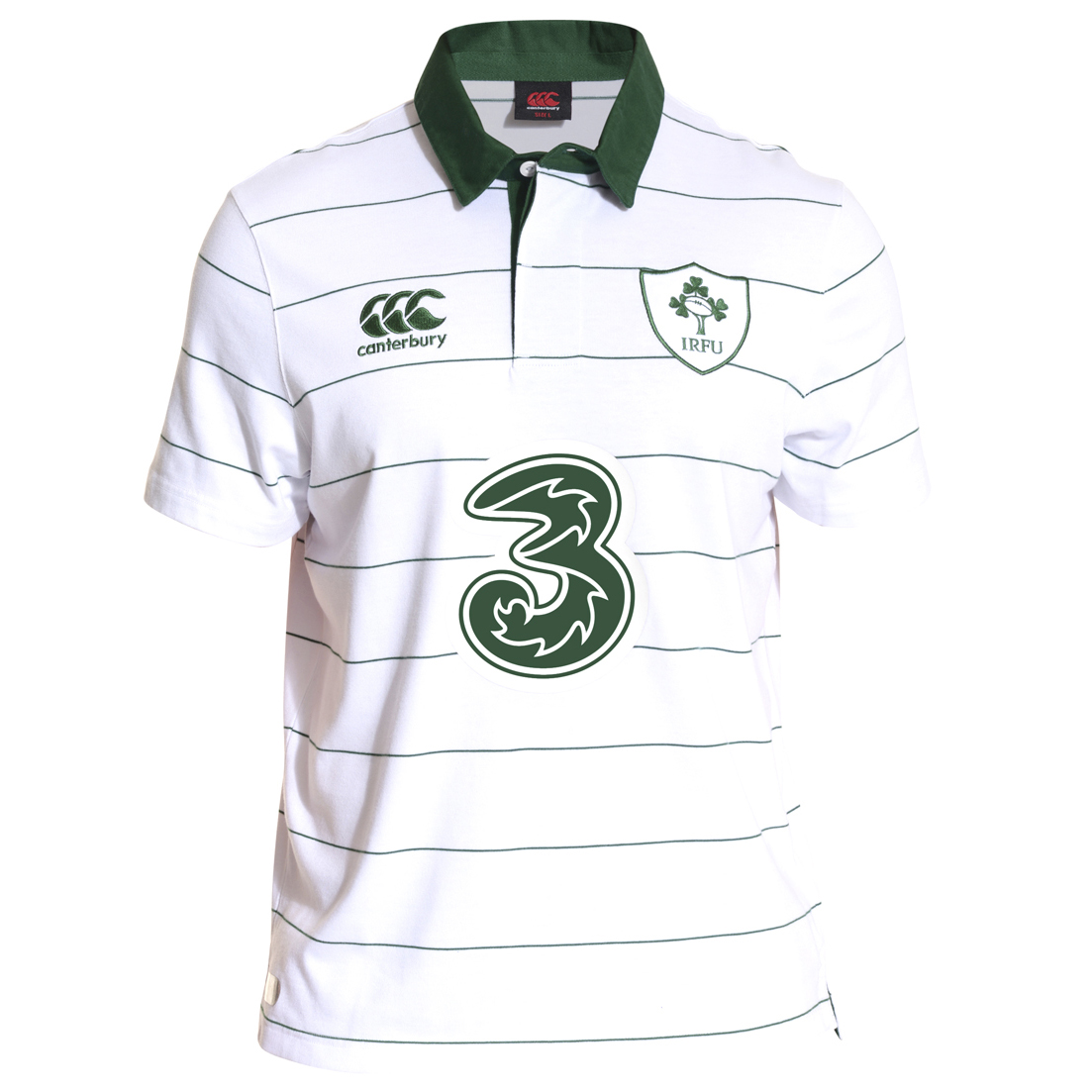 Ireland Alternate Classic Short Sleeve Rugby Shirt 2014/15 White