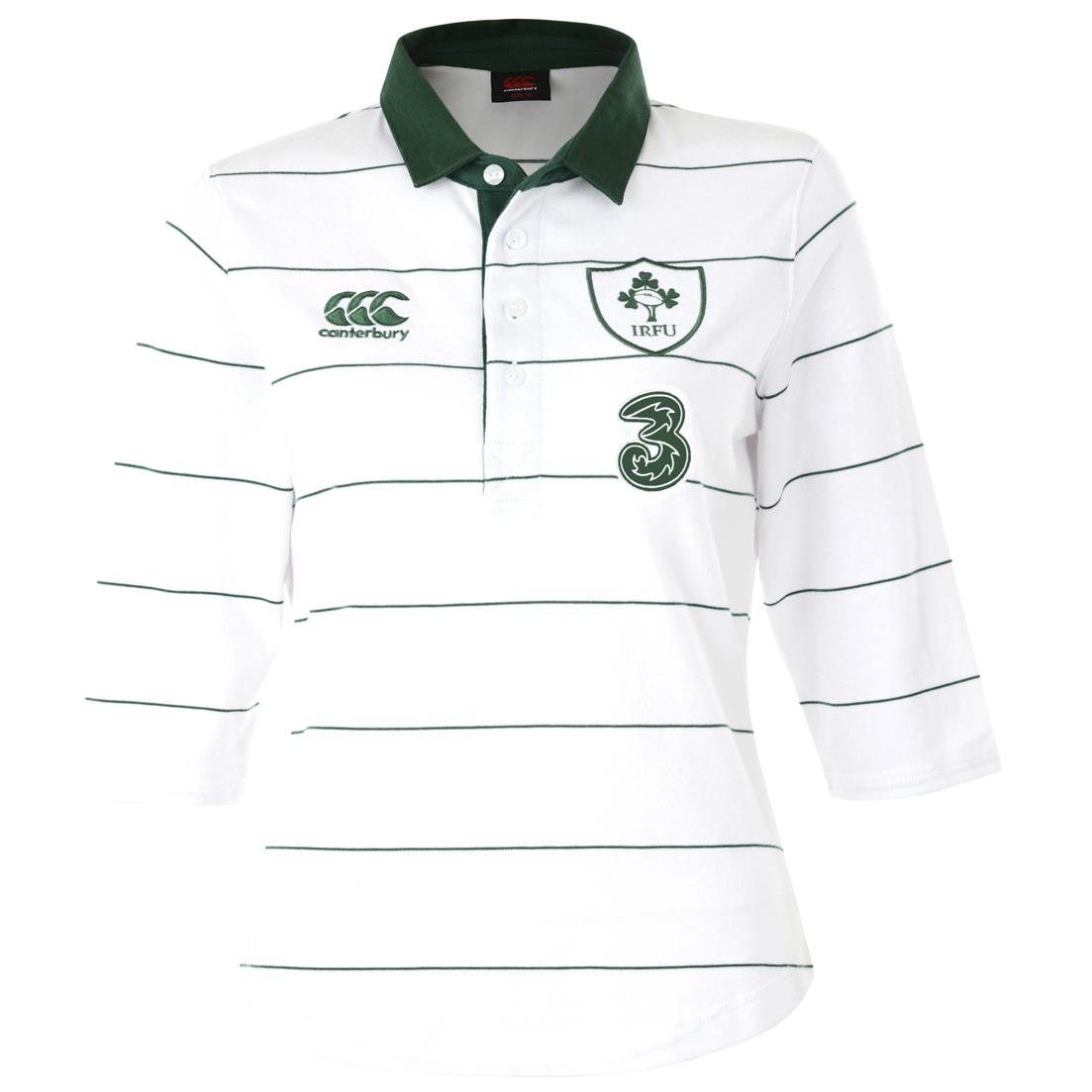 Ireland Alternate Classic 3/4 Sleeve Rugby Shirt 2014/15 - Womens White