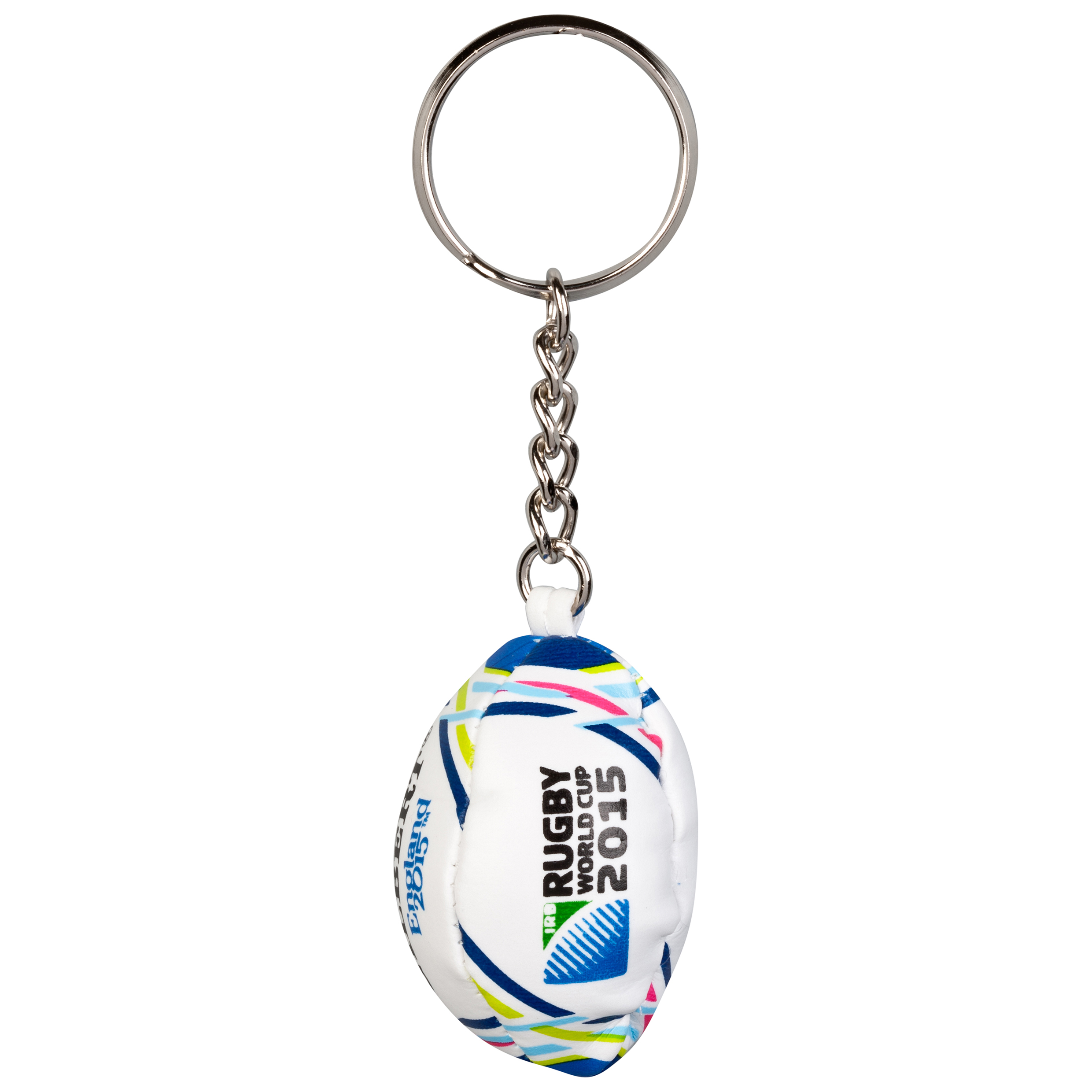 Gilbert Rugby World Cup 2015 Replica Ball Key Ring White
