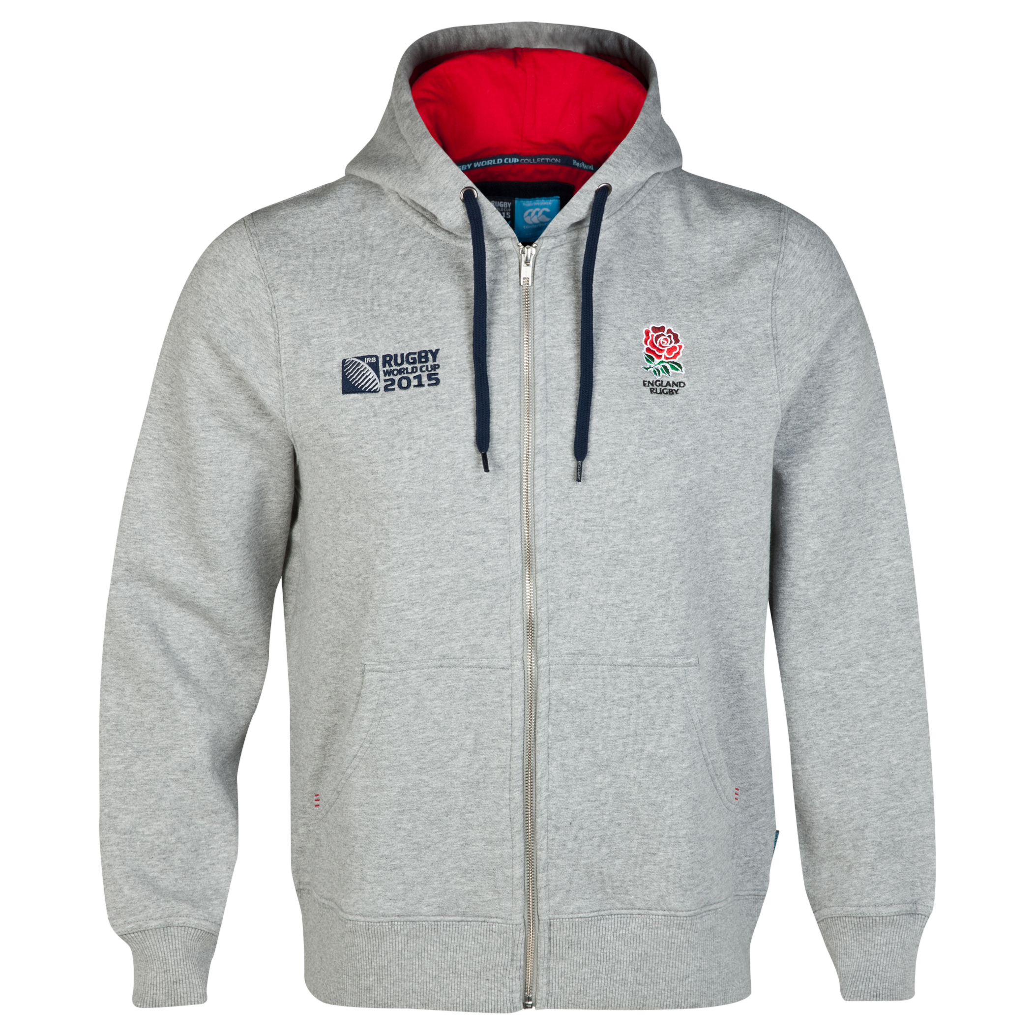 Canterbury Rugby World Cup England Rose Zip - up Hoody Grey