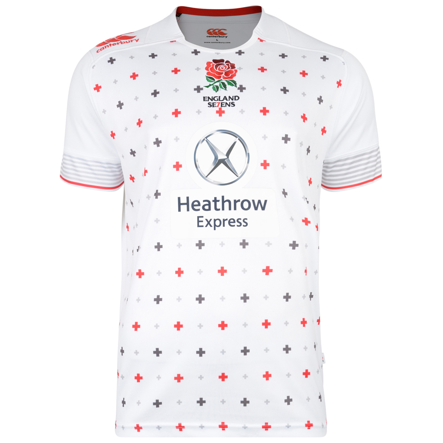 England Home Sevens S/S Rugby Pro Shirt 2014/15 - Kids White
