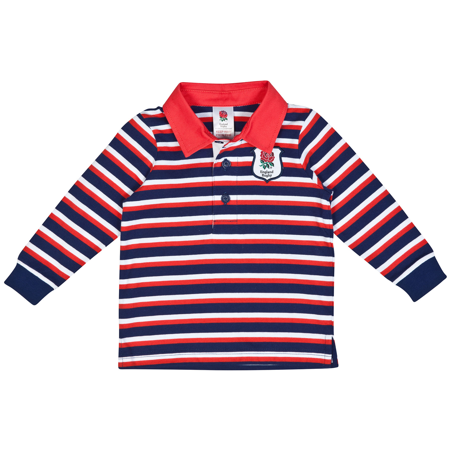 England Infant Striped Long Sleeved Rugby Shirt