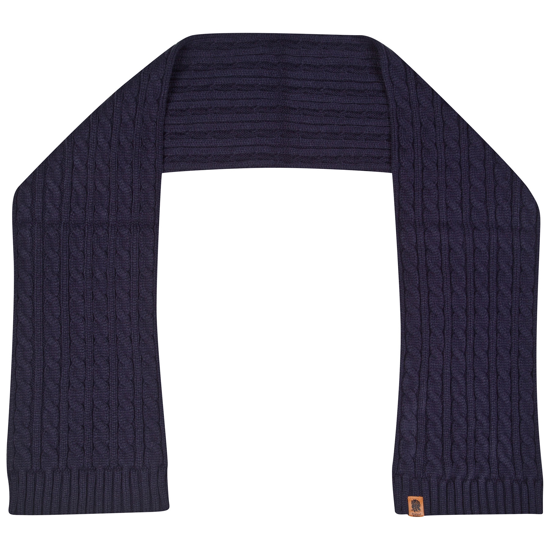 England Cable Knit Scarf  Denim