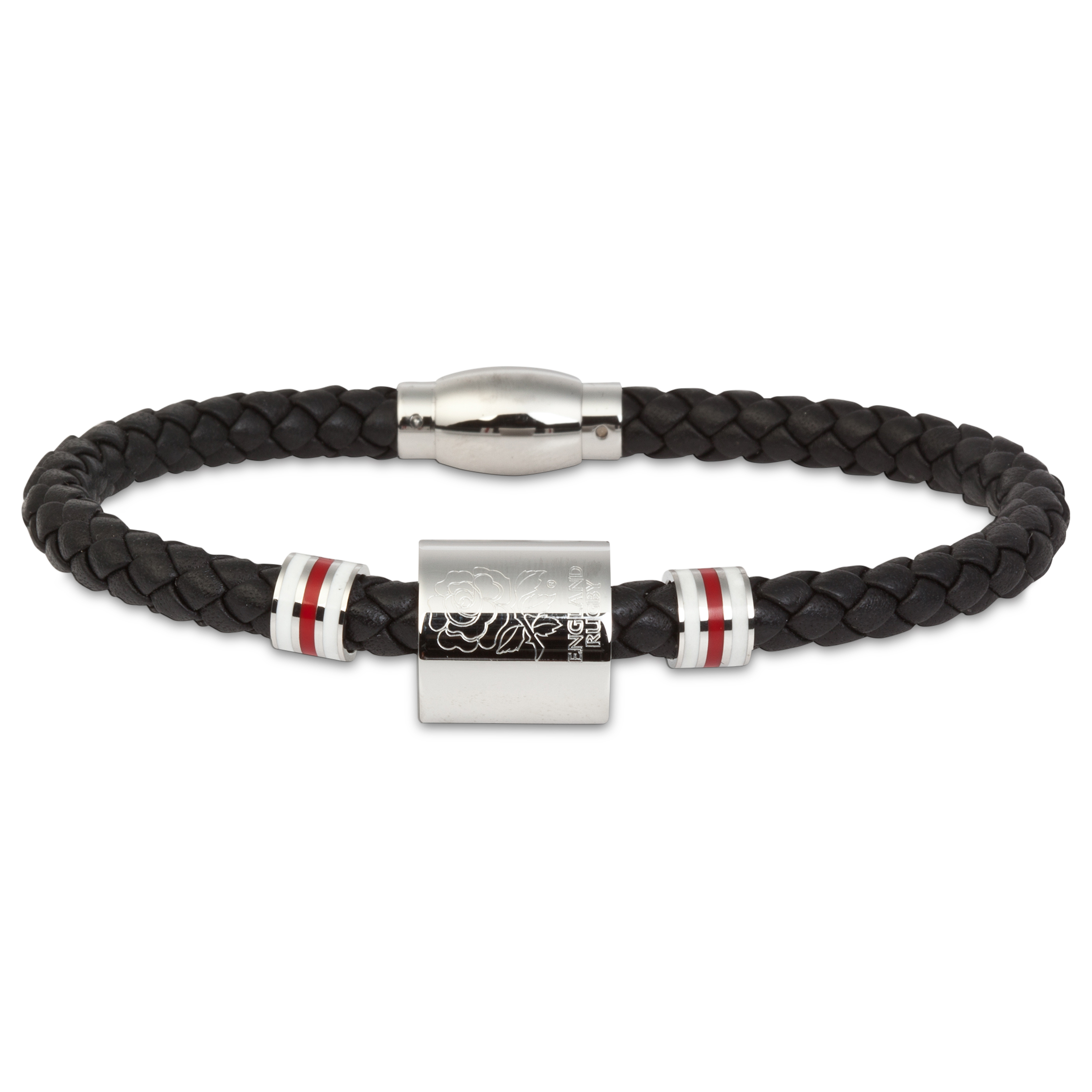England Plaited Leather Bracelet