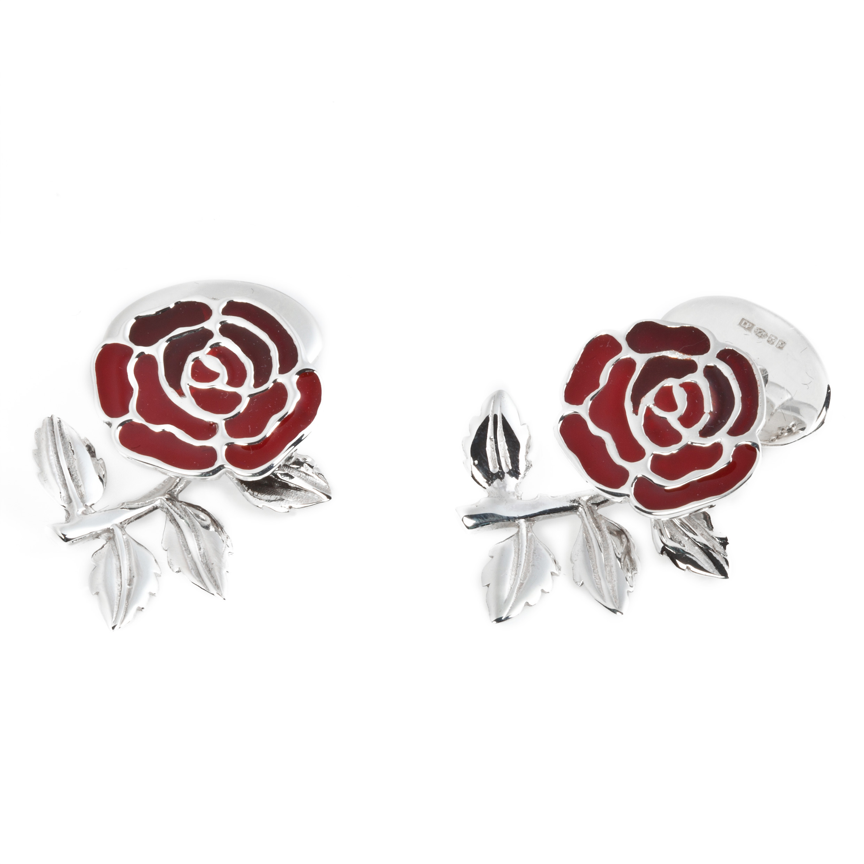 England Rose & Rugby Ball Cufflinks