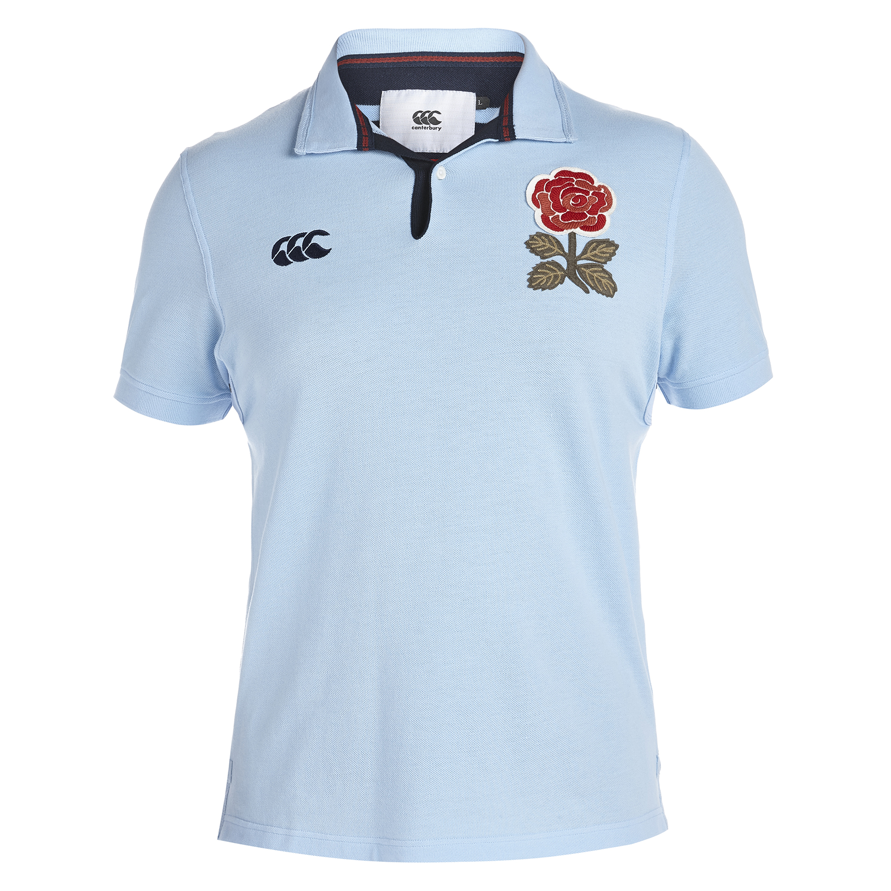 England Rugby 1871 Short Sleeve Loop Collar Pique Polo Sky Blue