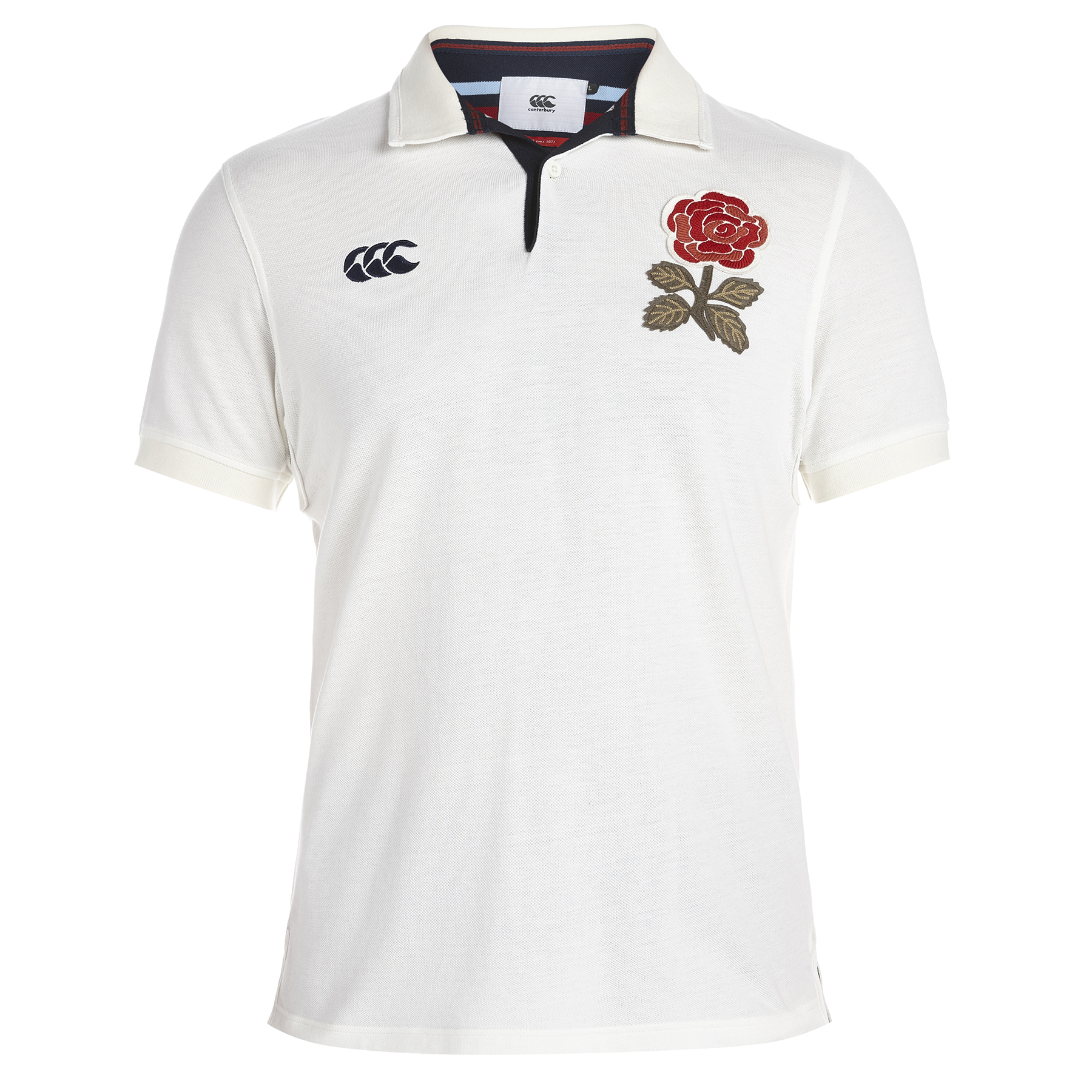 England Rugby 1871 Short Sleeve Loop Collar Pique Polo Cream