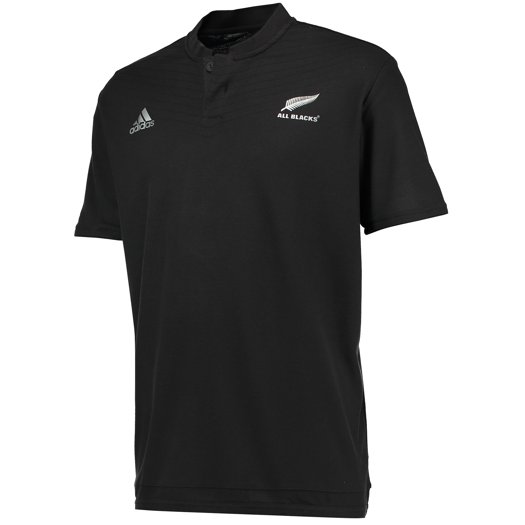 """Image of """"All Blacks Rugby Anthem Short Sleeve Polo Black"""""""