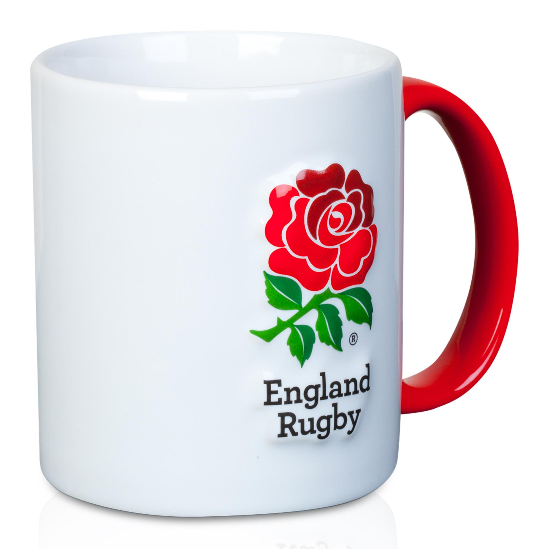 """Image of """"England 3D Rose Mug - White"""""""