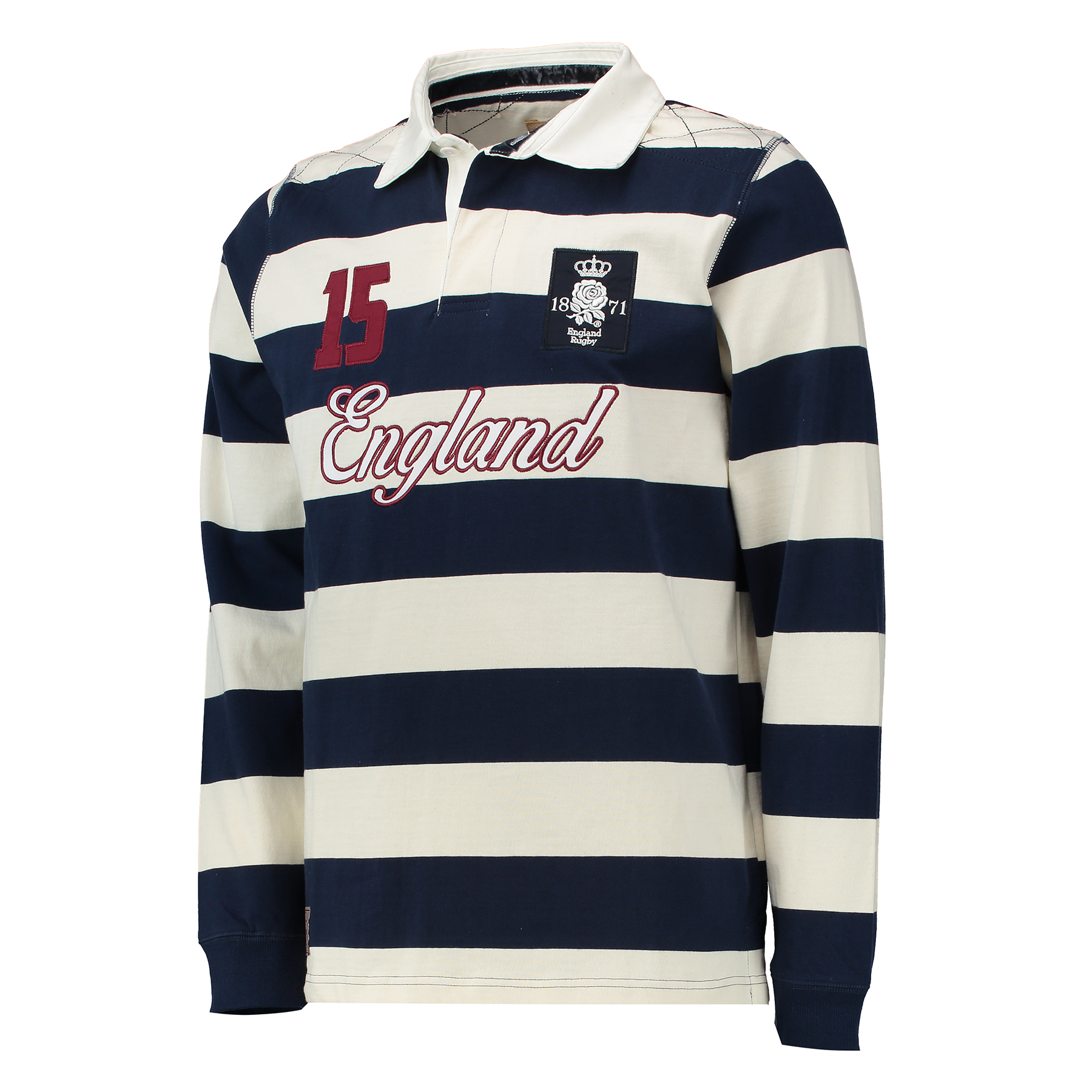 "Image of ""England Authentics 1871 Rugby Shirt - Navy/White"""