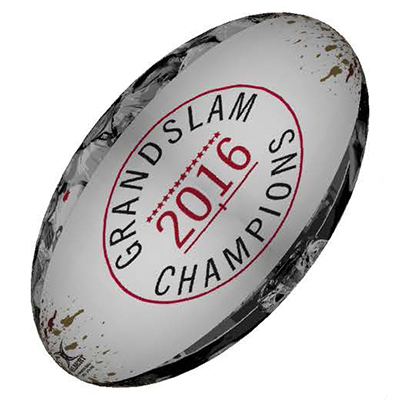 England Grand Slam 2016 Winners Supporters Rugby Ball - Size 5