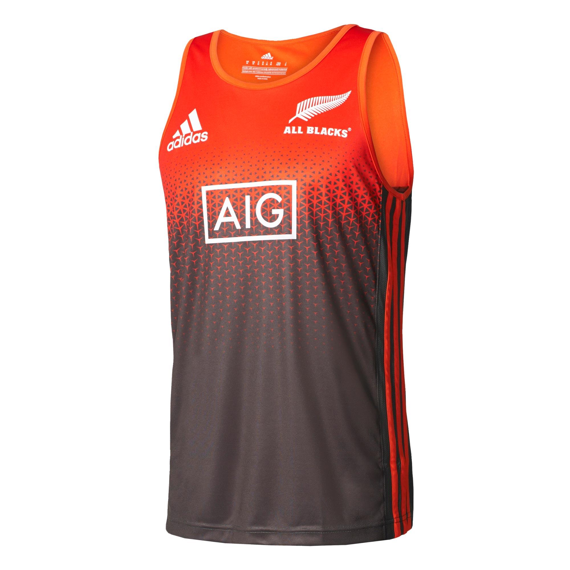 """Image of """"All Blacks Singlet - Solar Red/Energy/White"""""""