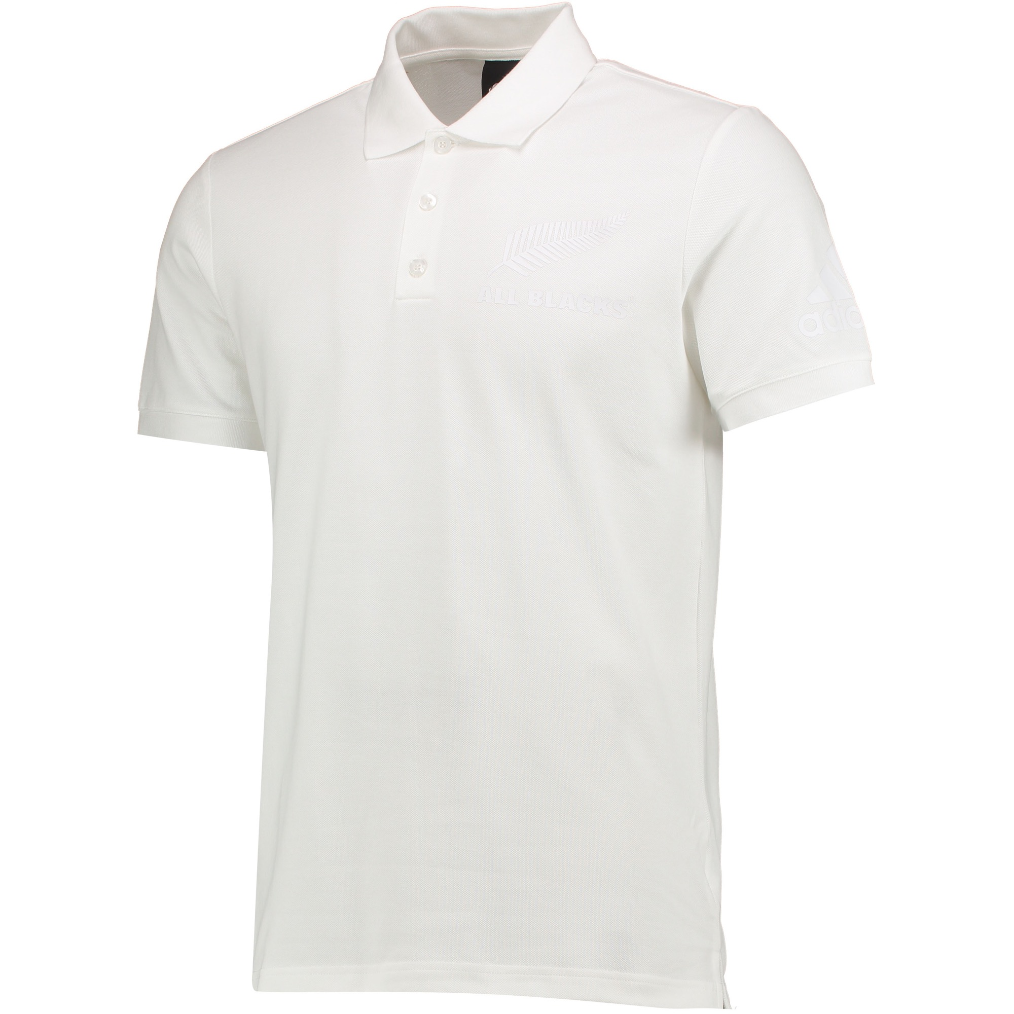 """Image of """"All Blacks Rugby Supporters Polo - White"""""""
