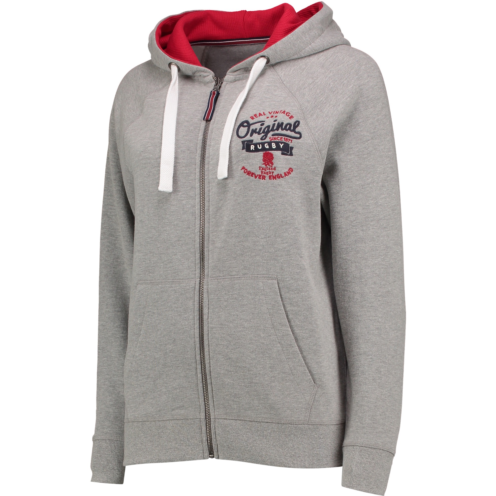 "Image of ""England Authentics Real Vintage Hoodie - Grey - Womens"""