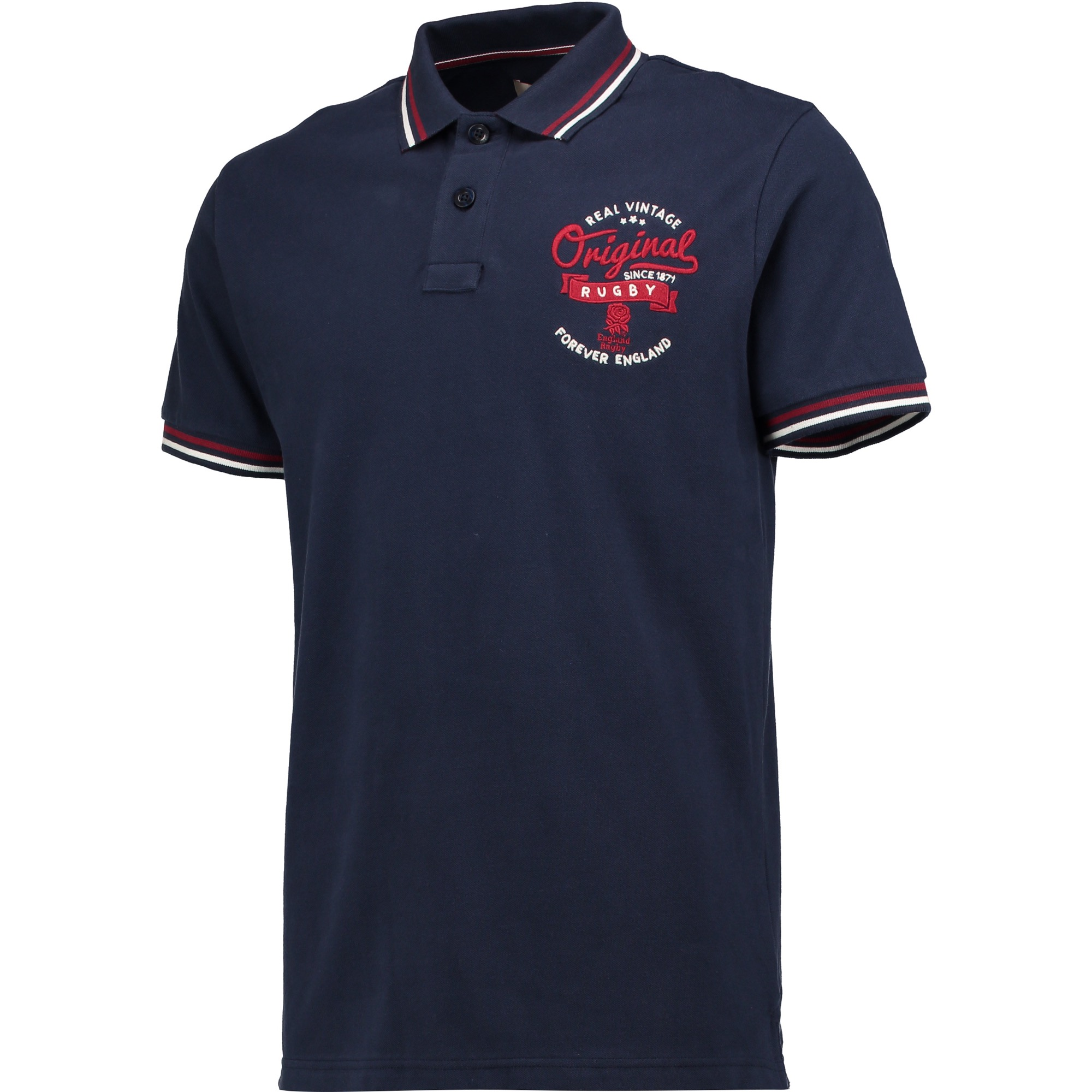 "Image of ""England Authentics Real Vintage Polo - Navy"""