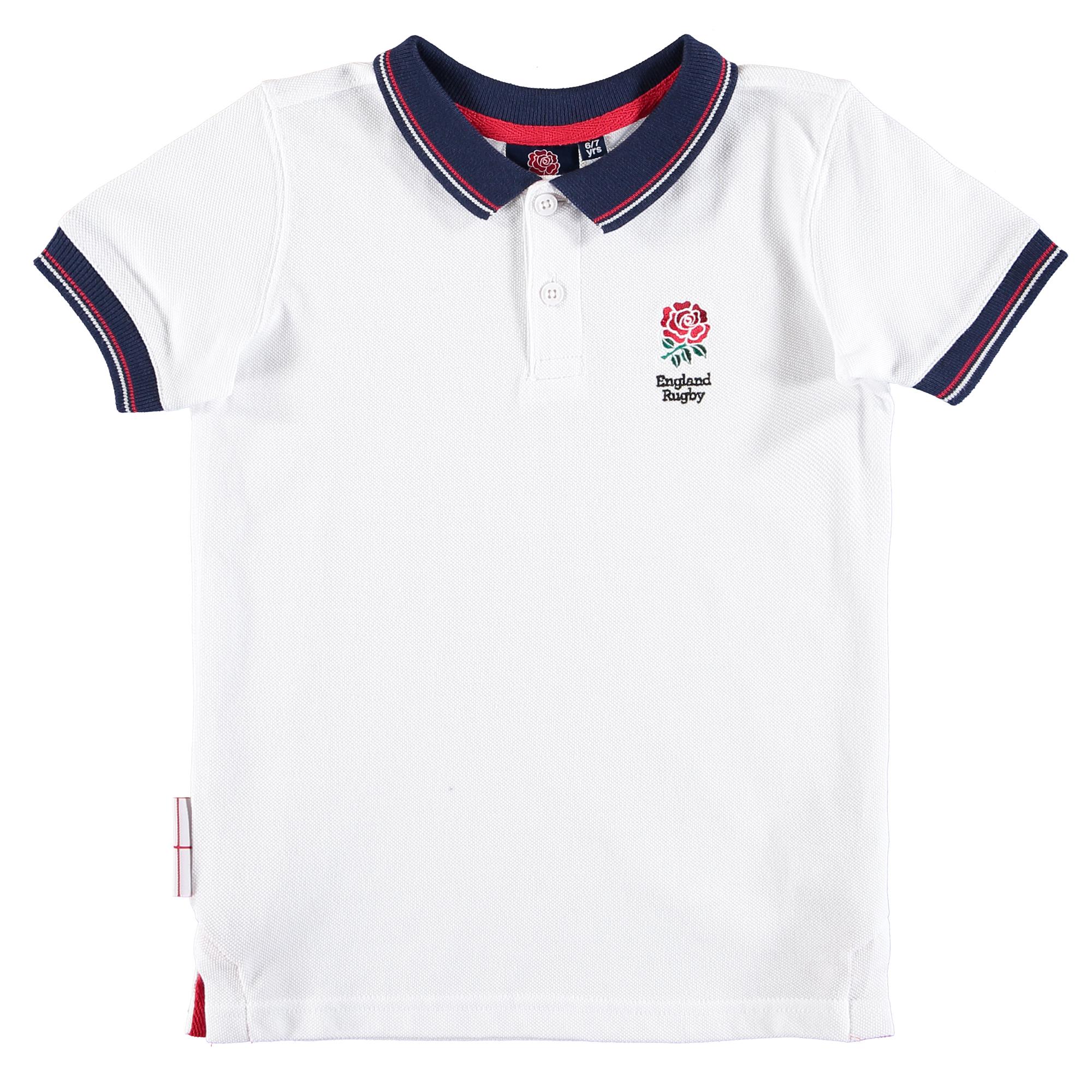 "Image of ""England Classic Pique Polo - White - Boys"""