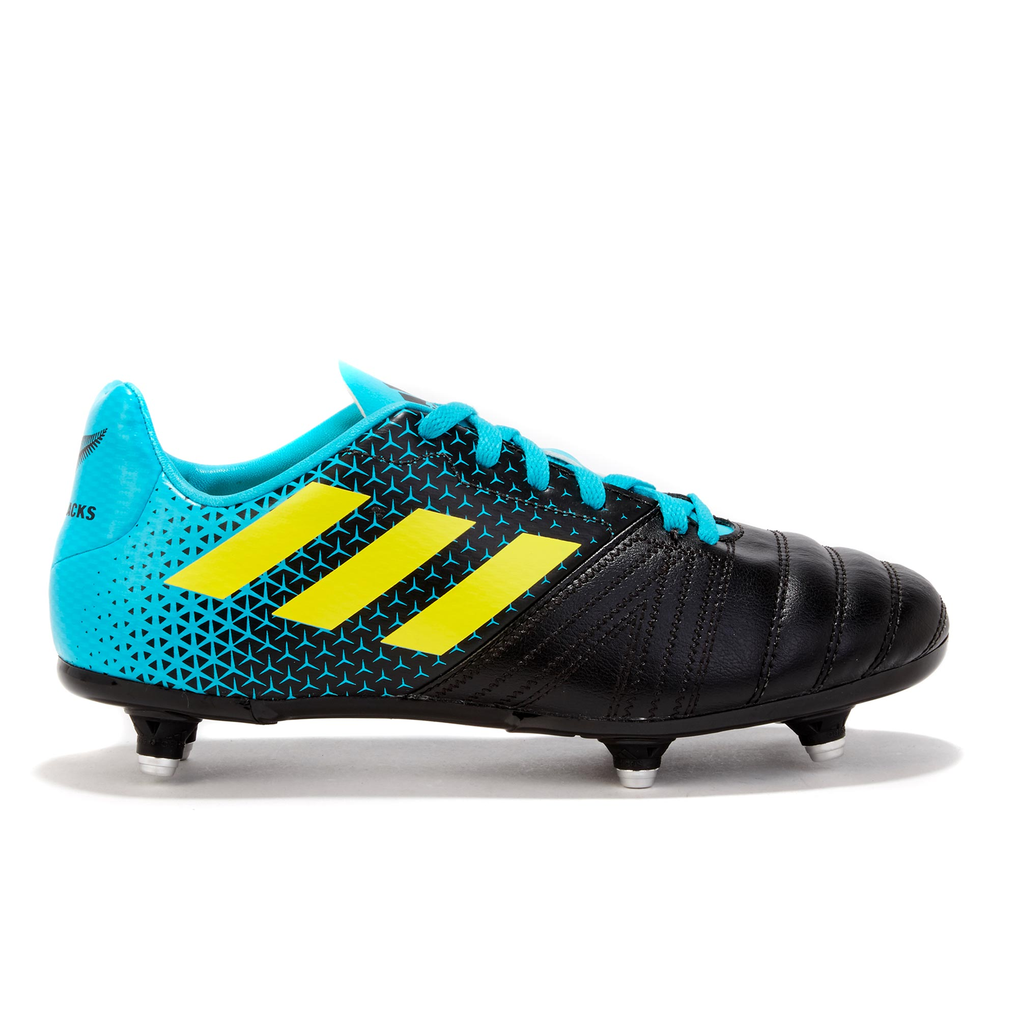 "Image of ""adidas All Blacks - Soft Ground Rugby Boot - Aqua/Yellow/Black - Junior"""