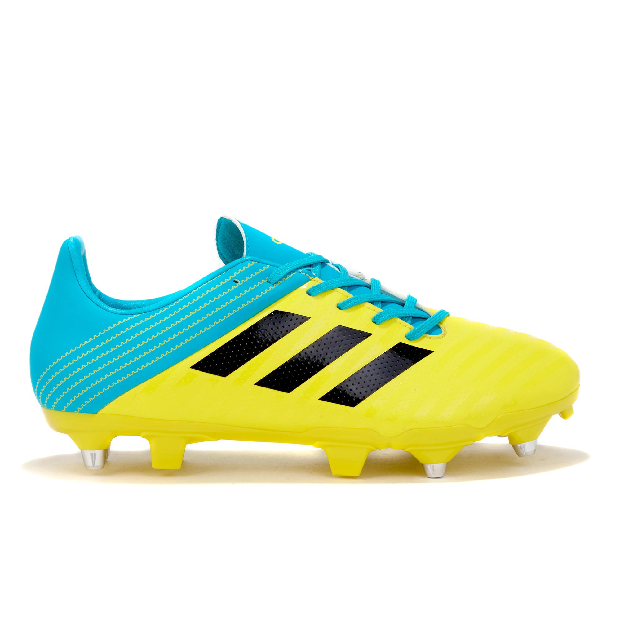 "Image of ""adidas Malice - Soft Ground Rugby Boot - Yellow/Black/Aqua"""