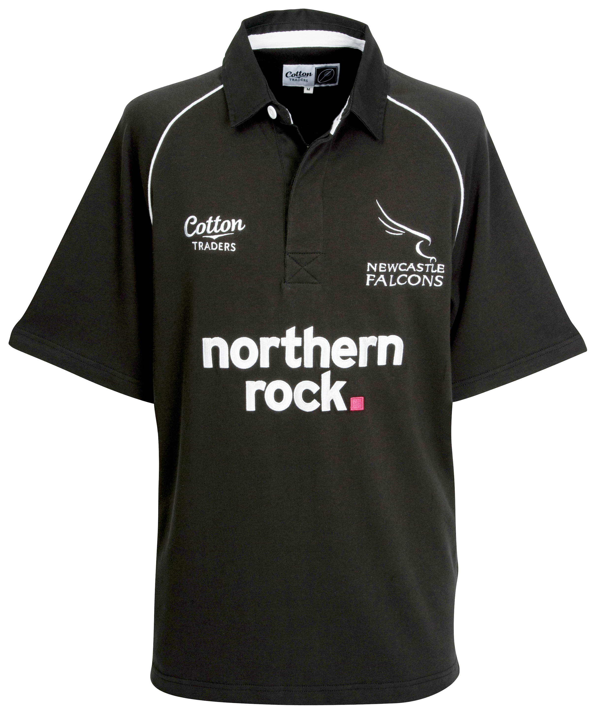 Newcastle Falcons Home Rugby Shirt 08/10 - Black - Shor
