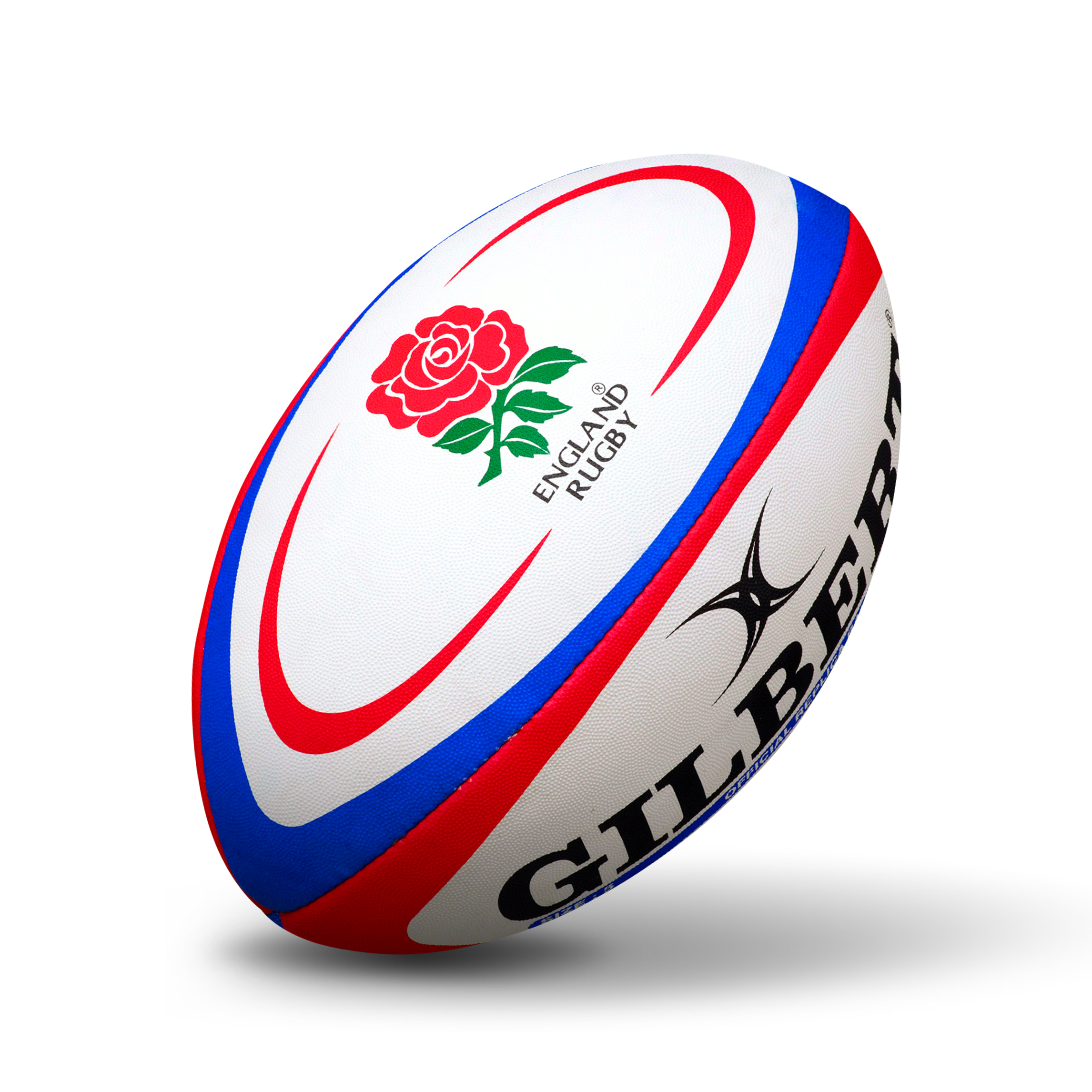 Gilbert Rugby International Replica Ball - Size 5 - White/Red