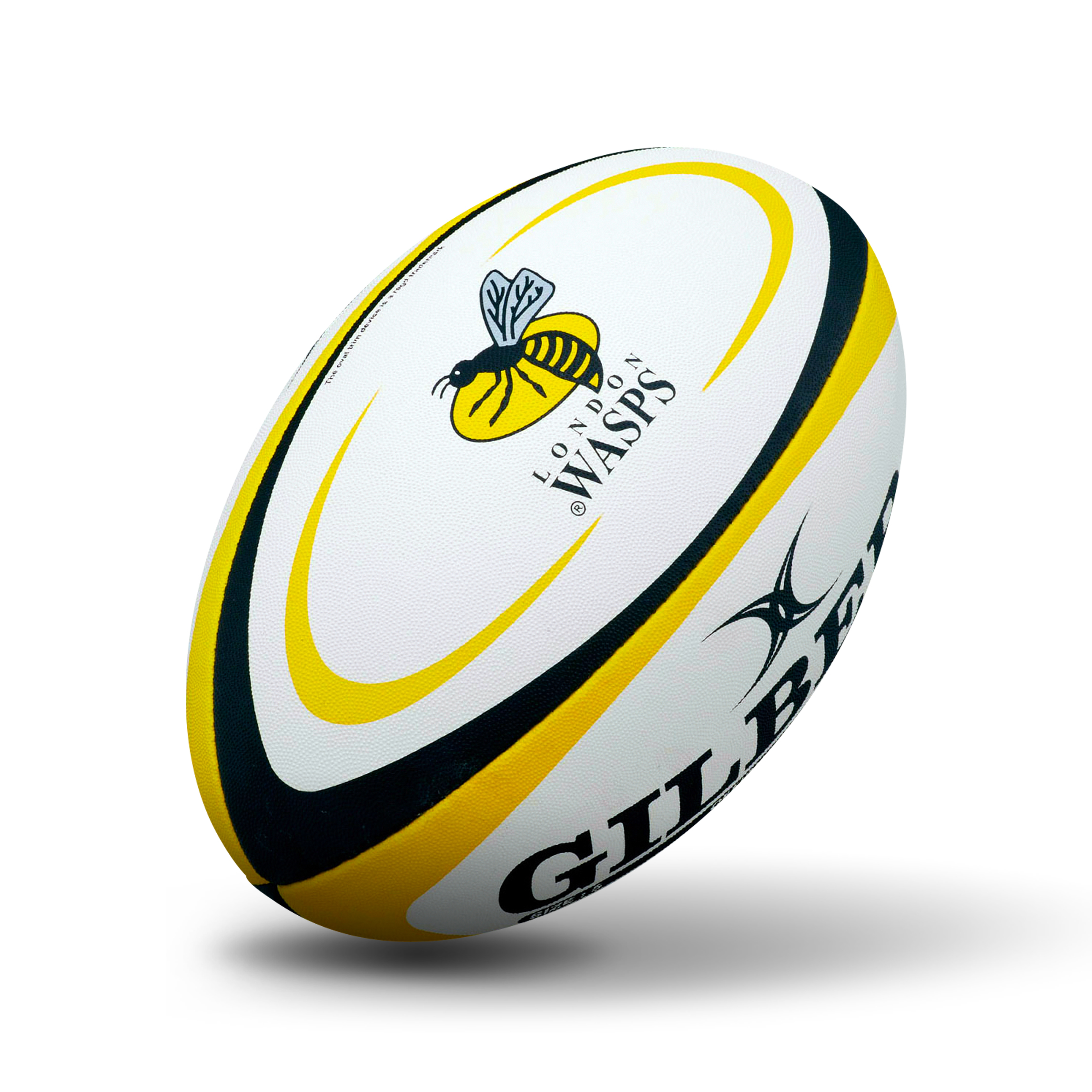 Gilbert London Wasps Rugby Ball - Yellow/Black - Size 5
