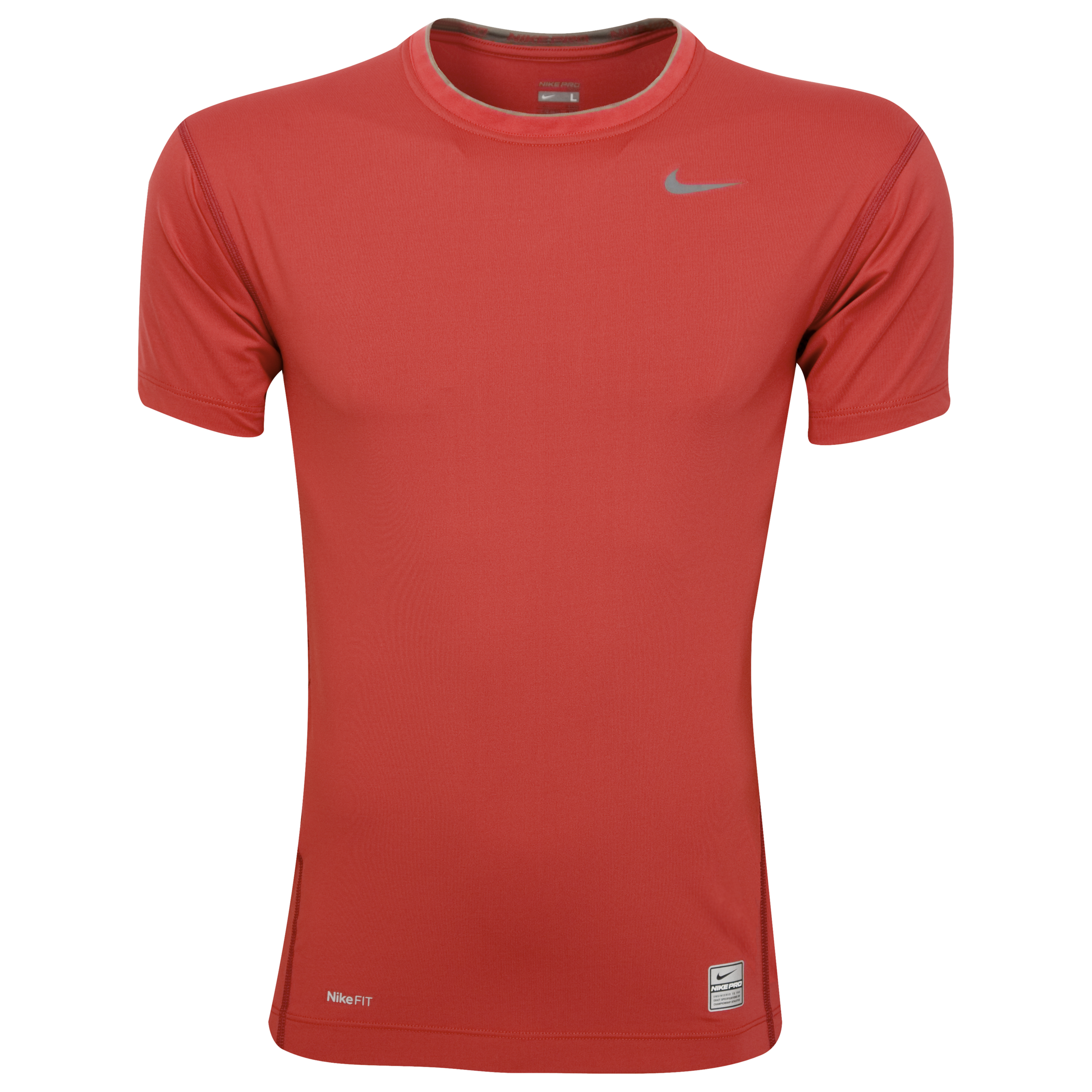 Nike Core Tight Crew - Red - Short Sleeve