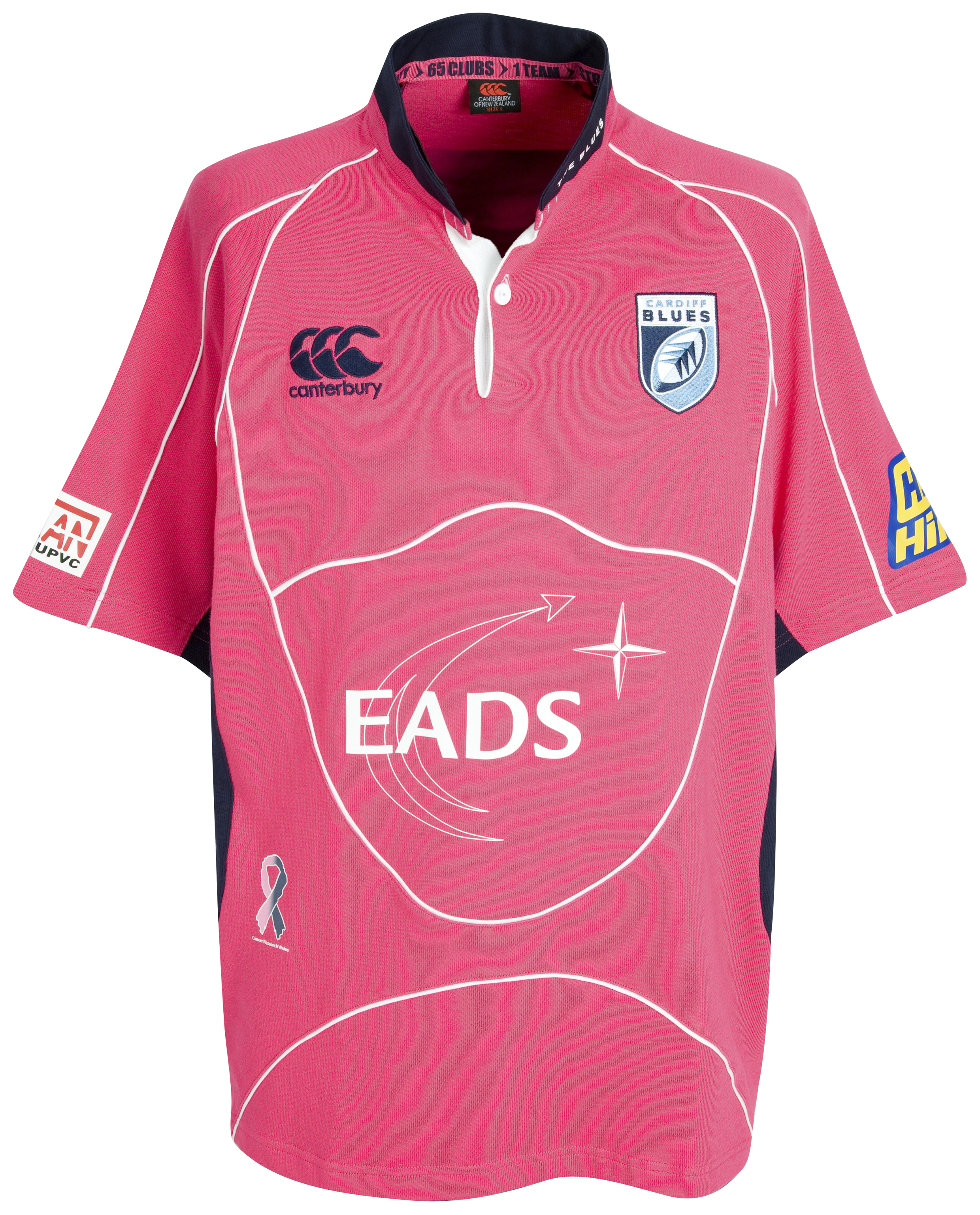 Cardiff Blues Alternative Classic Rugby Shirt 2009/10