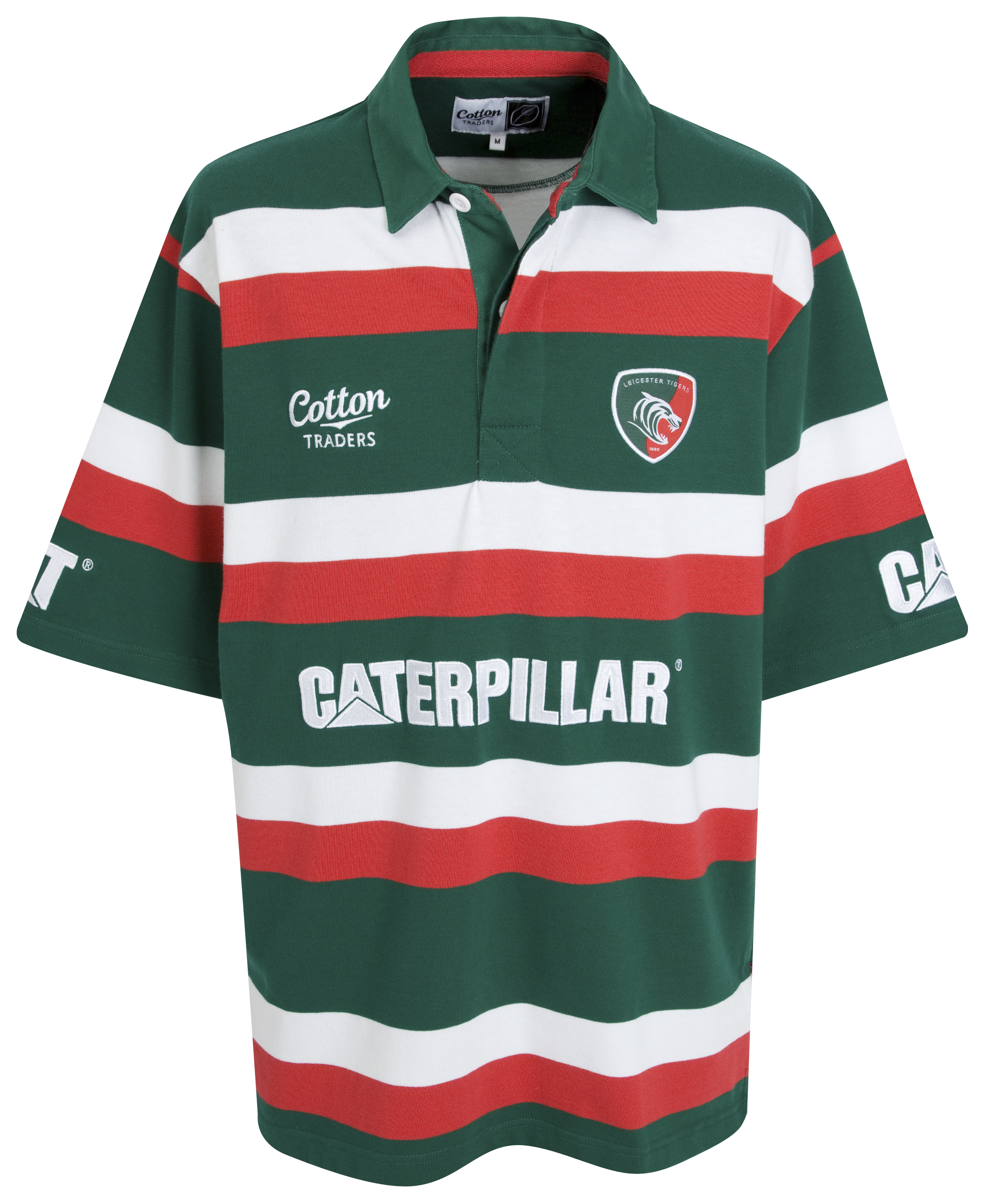 Leicester Tigers 2009/10 Home Rugby Shirt - Green/Red/W