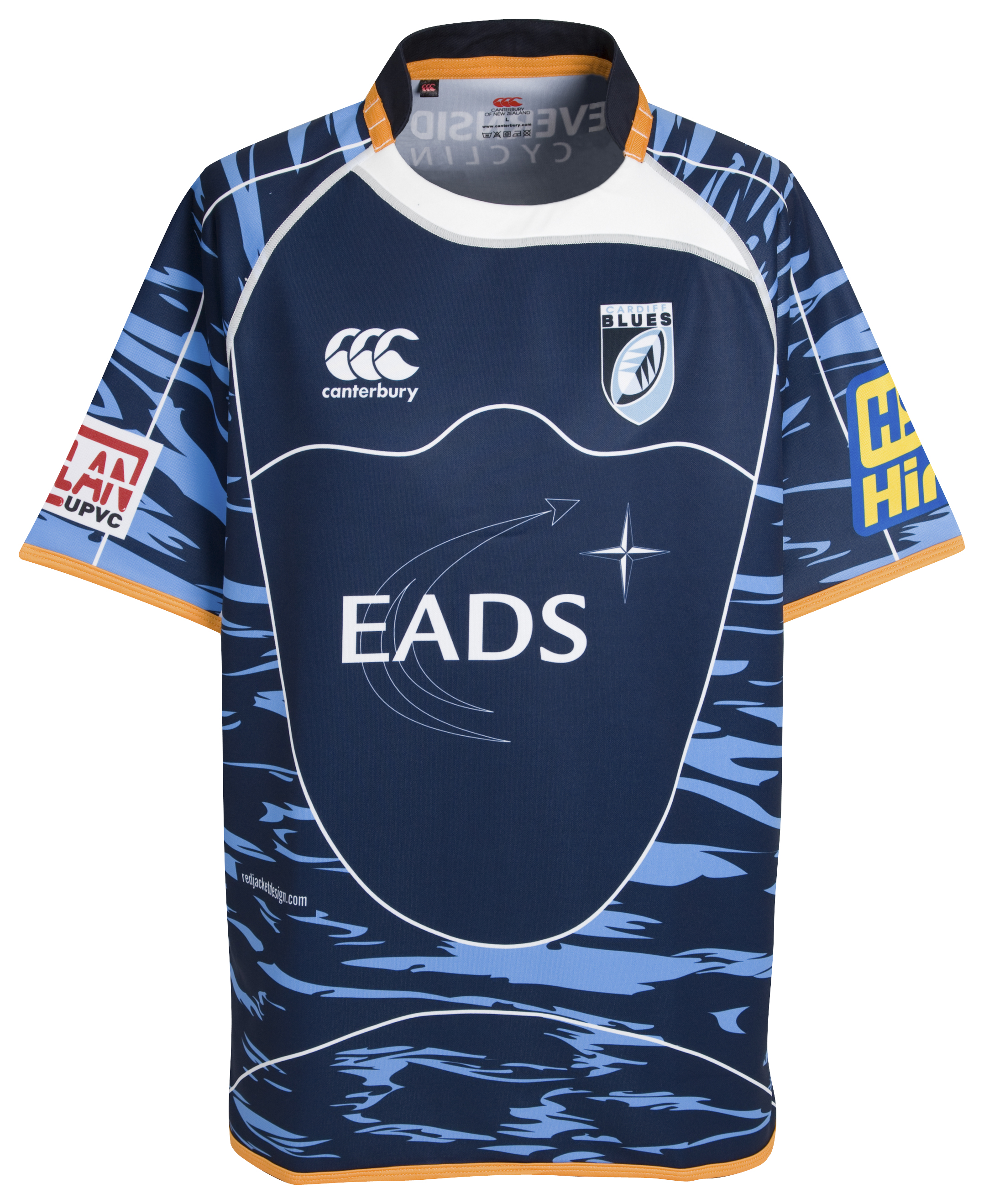 Cardiff Blues Heineken Cup Pro Rugby Shirt